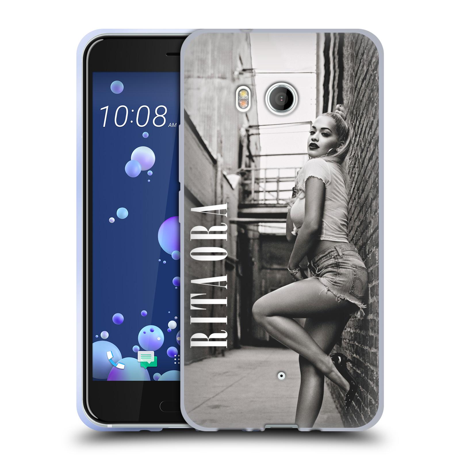 HEAD CASE silikonový obal na mobil HTC U11 / HTC U11 DUAL SIM zpěvačka Rita Ora foto černobílá