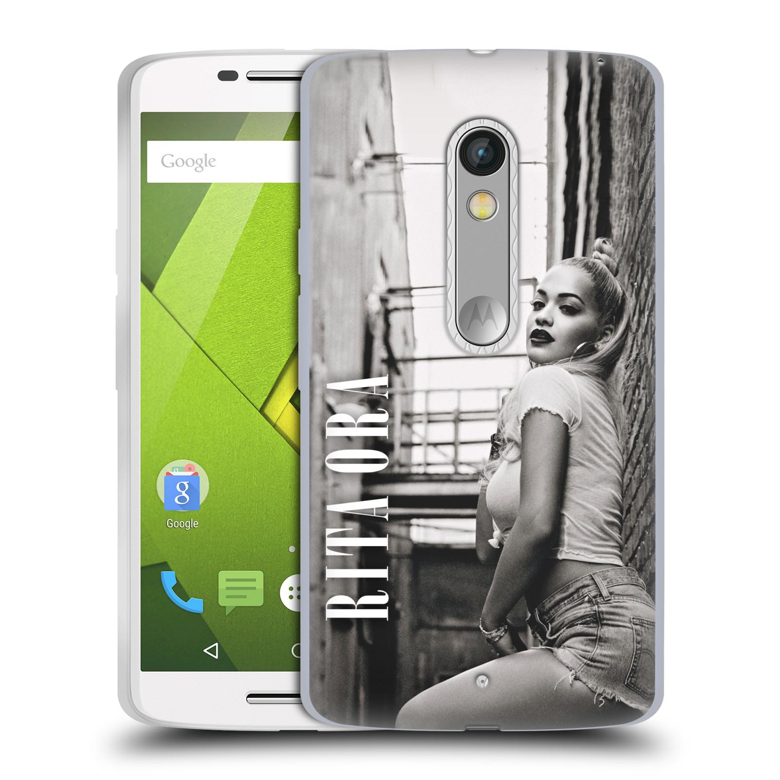 HEAD CASE silikonový obal na mobil Lenovo Moto X PLAY zpěvačka Rita Ora foto černobílá