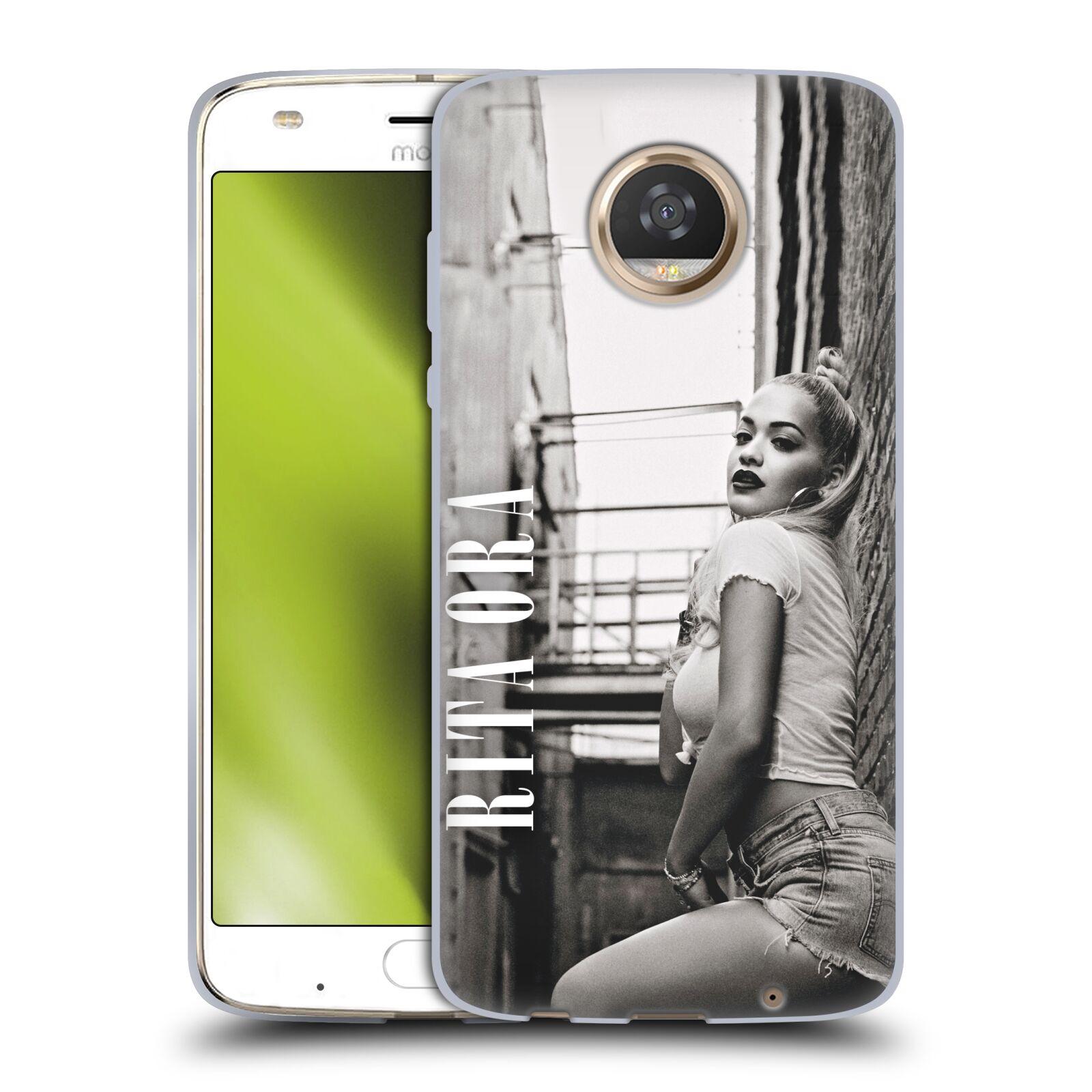 HEAD CASE silikonový obal na mobil Motorola Moto Z2 PLAY zpěvačka Rita Ora foto černobílá