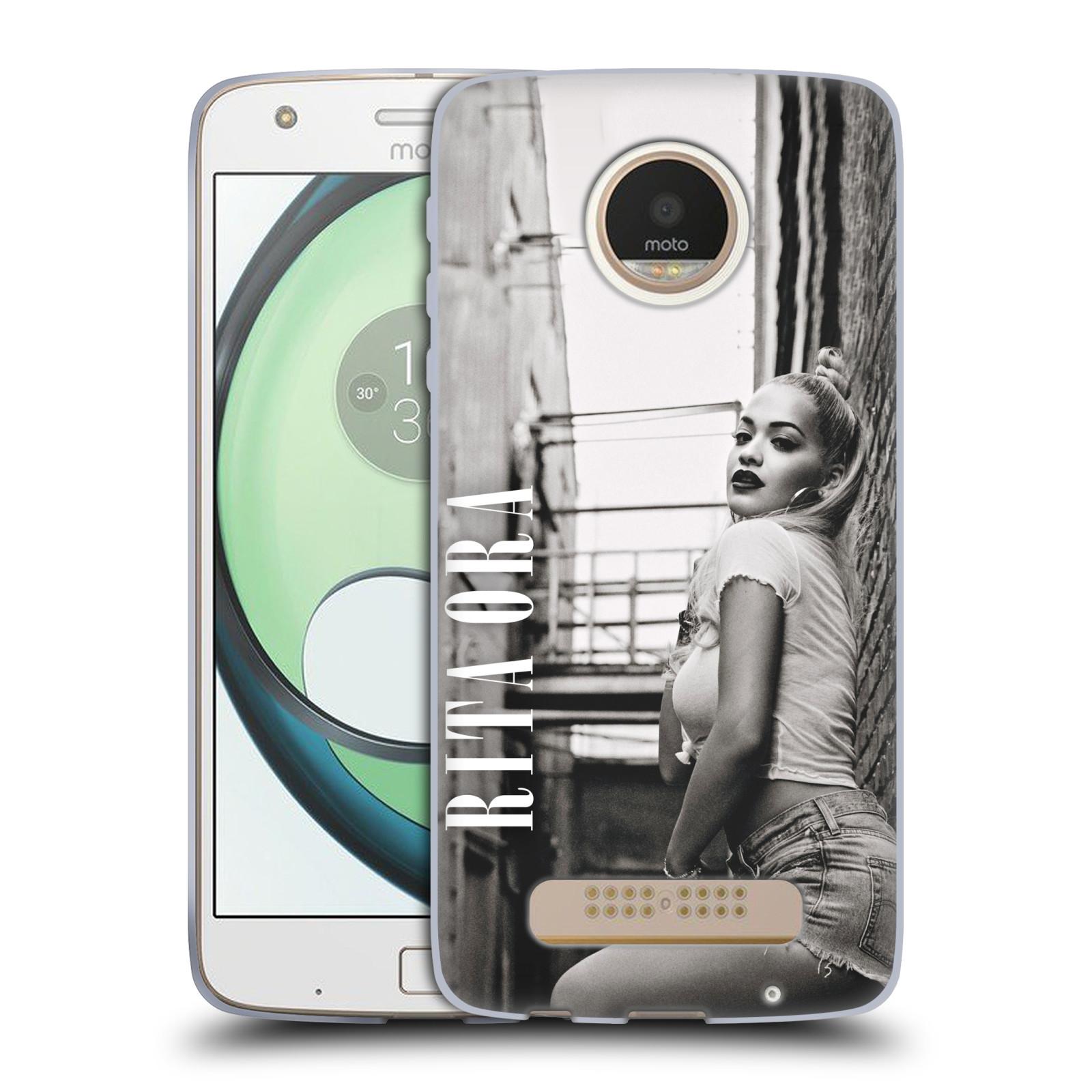 HEAD CASE silikonový obal na mobil Lenovo Moto Z PLAY zpěvačka Rita Ora foto černobílá