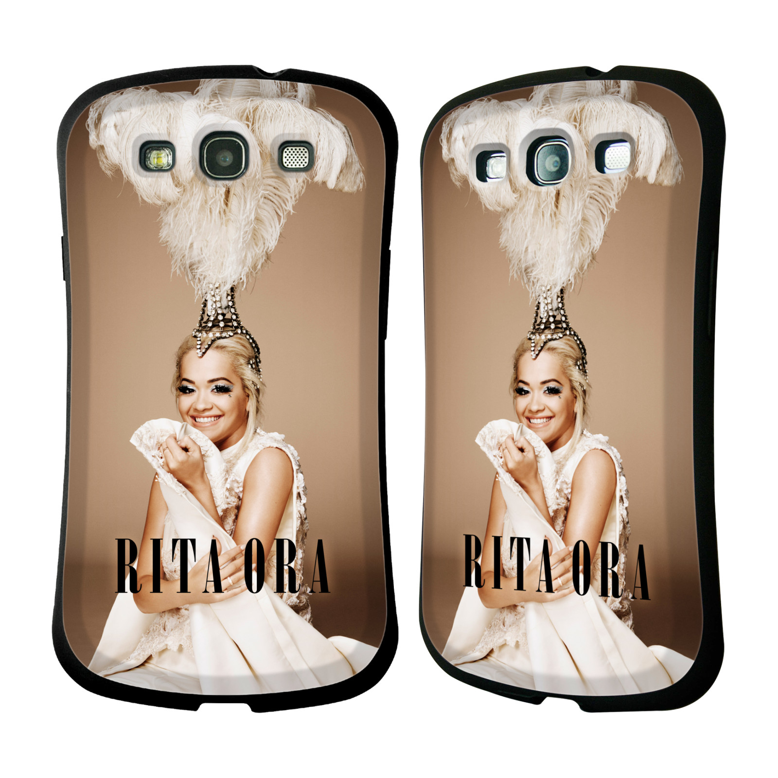 HEAD CASE silikon/plast odolný obal na mobil Samsung Galaxy S3 i9300 / S3 NEO Rita Ora čelenka z peří