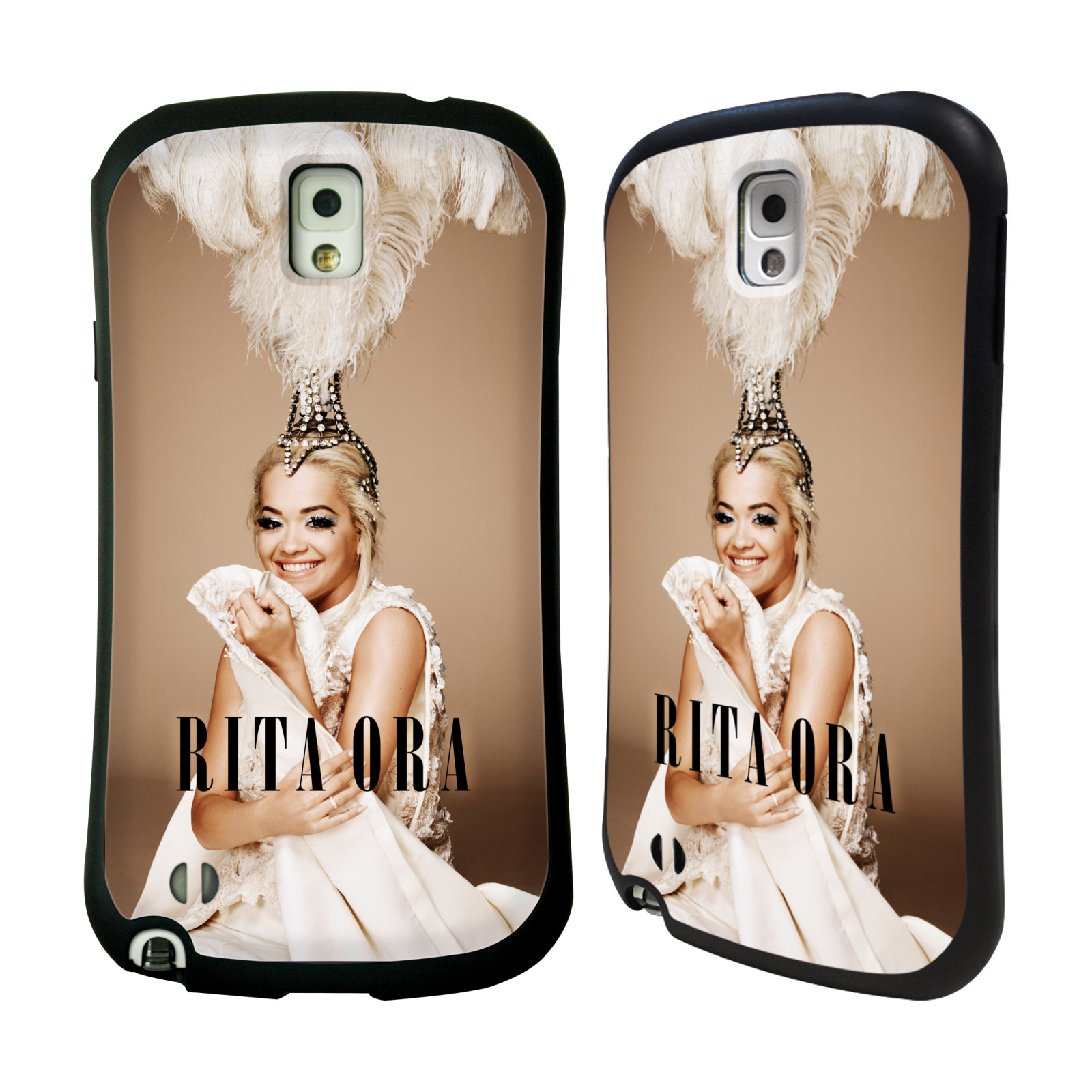 HEAD CASE silikon/plast odolný obal na mobil Samsung Galaxy NOTE 3 (N9005) Rita Ora čelenka z peří