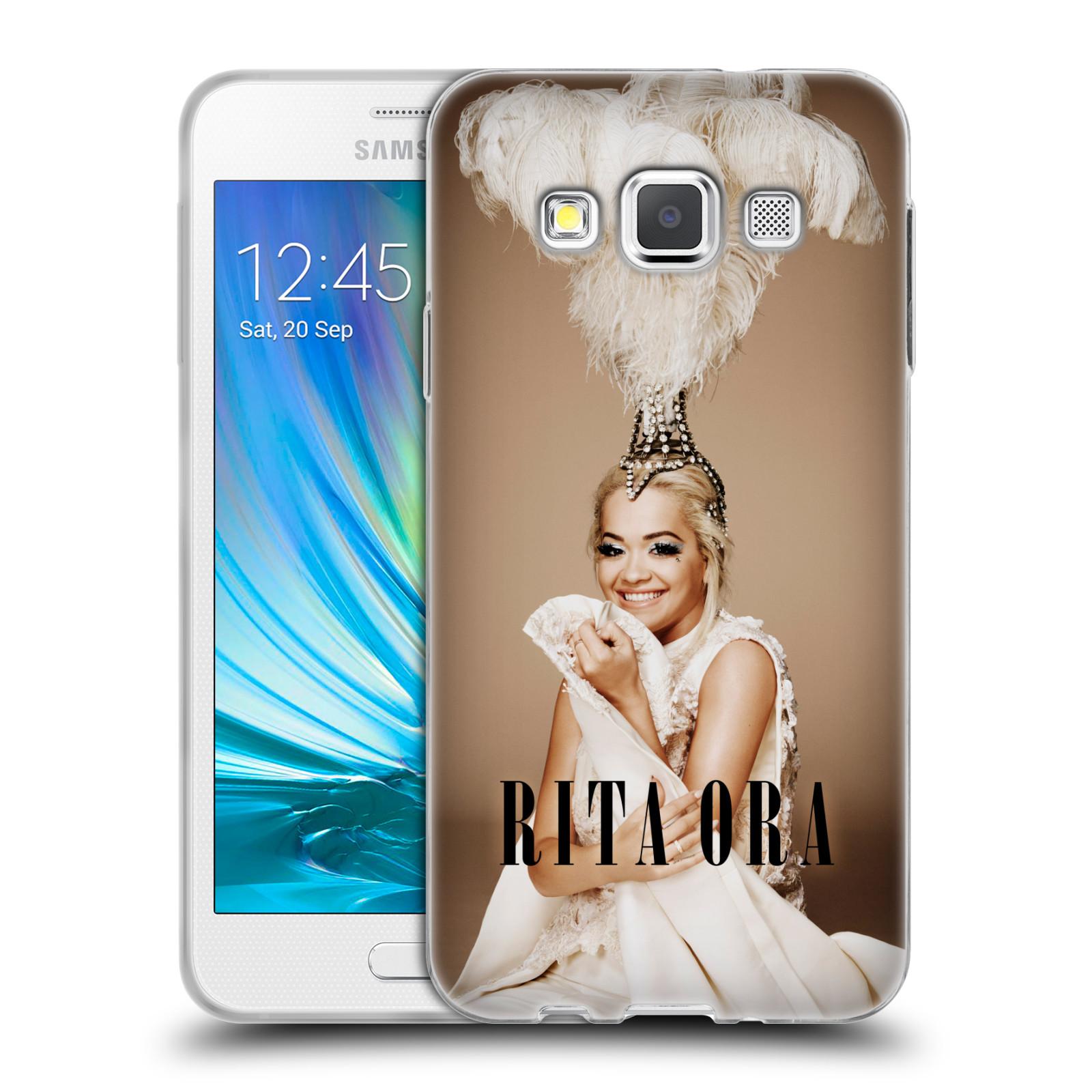 HEAD CASE silikonový obal na mobil Samsung Galaxy A3 (A300) zpěvačka Rita Ora peří