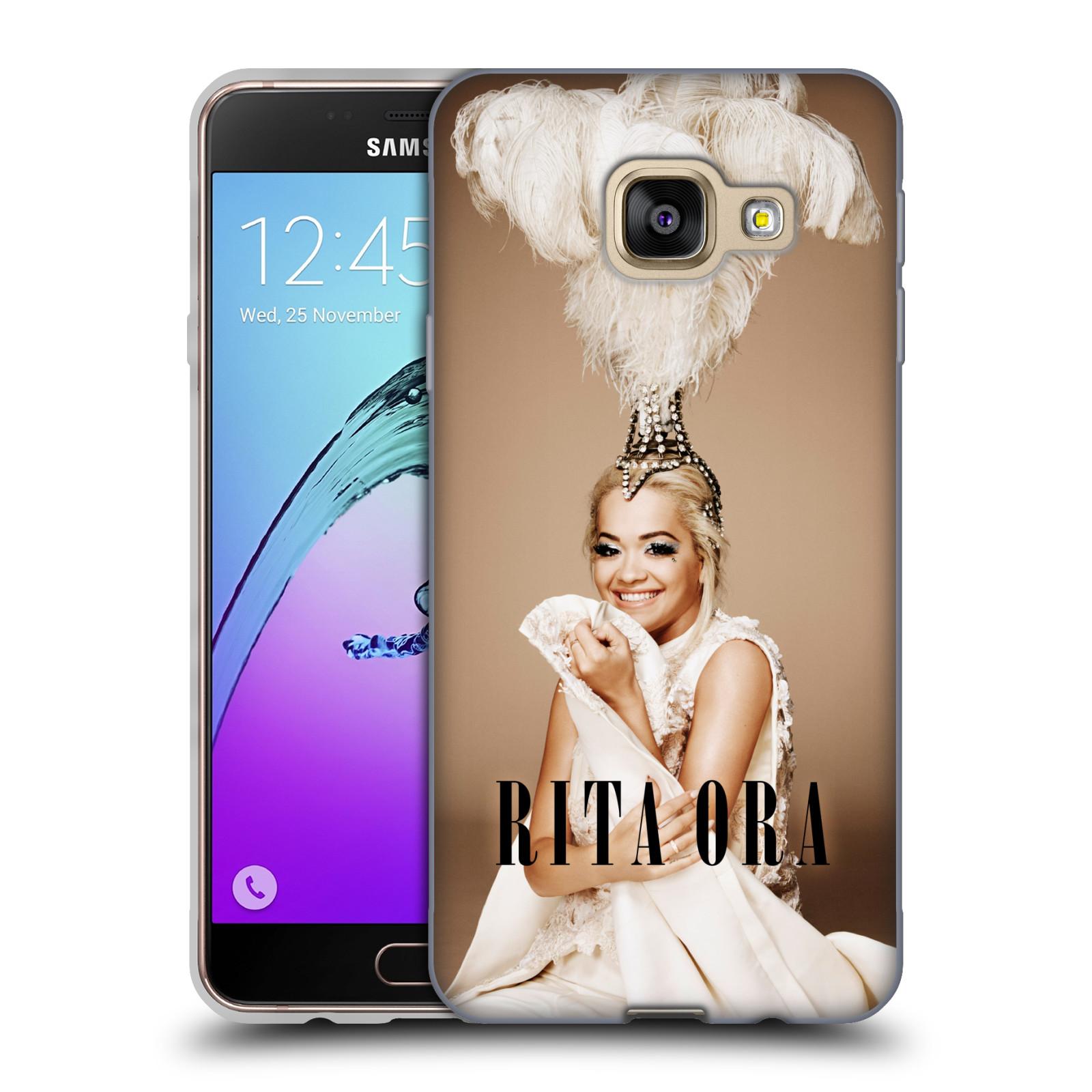 HEAD CASE silikonový obal na mobil Samsung Galaxy A3 2016 (A310) zpěvačka Rita Ora peří