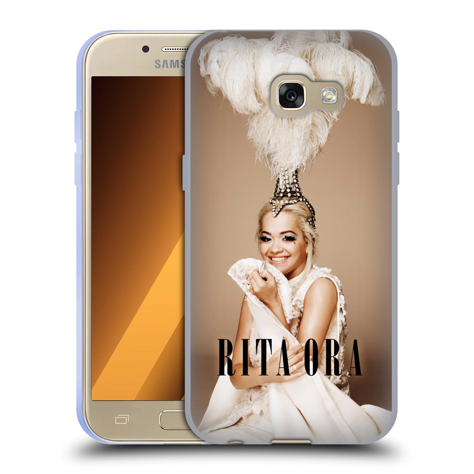 HEAD CASE silikonový obal na mobil Samsung Galaxy A3 2017 (A320) zpěvačka Rita Ora peří