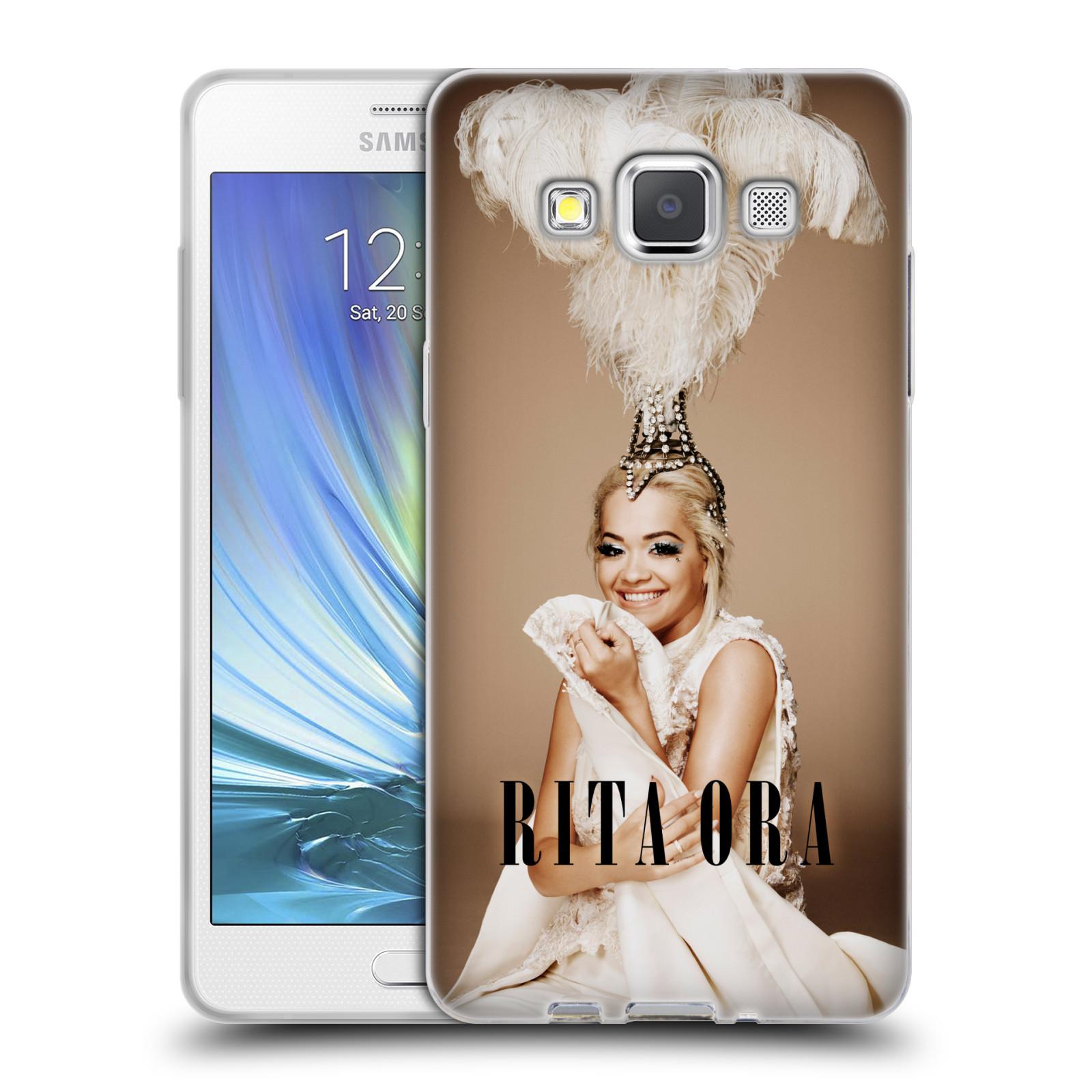 HEAD CASE silikonový obal na mobil Samsung Galaxy A5 (A500) zpěvačka Rita Ora peří