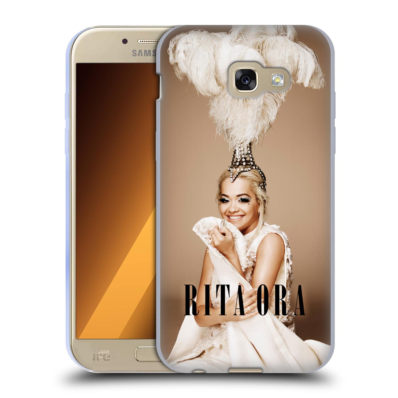 HEAD CASE silikonový obal na mobil Samsung Galaxy A5 2017 (A520) zpěvačka Rita Ora peří
