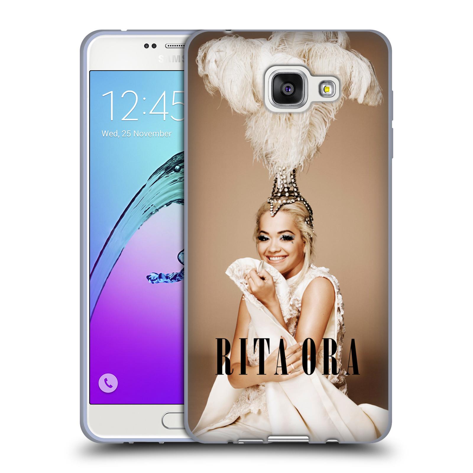HEAD CASE silikonový obal na mobil Samsung Galaxy A7 2016 (A710) zpěvačka Rita Ora peří