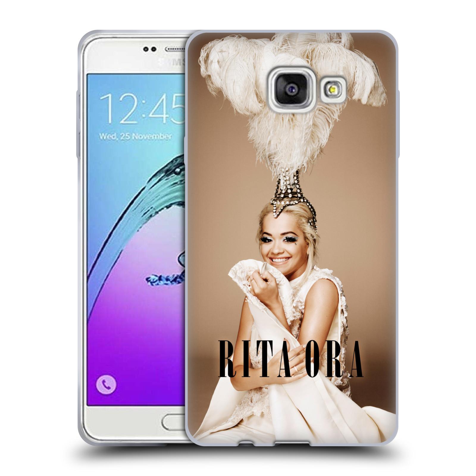 HEAD CASE silikonový obal na mobil Samsung Galaxy A7 2017 (A720) zpěvačka Rita Ora peří
