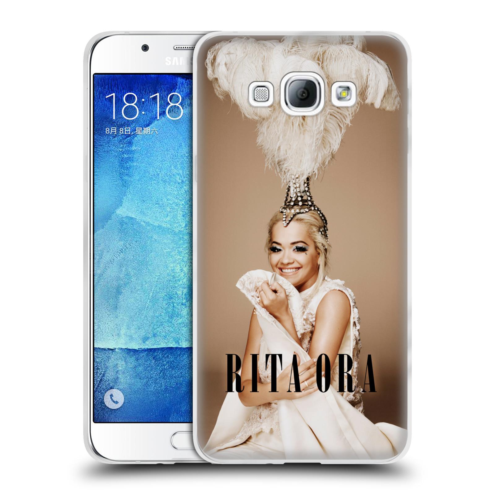 HEAD CASE silikonový obal na mobil Samsung Galaxy A8 2015 zpěvačka Rita Ora peří