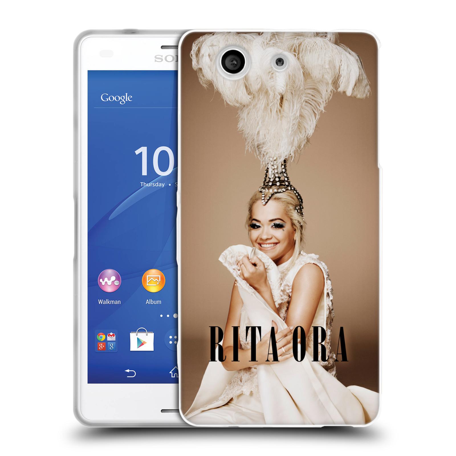HEAD CASE silikonový obal na mobil Sony Xperia Z3 COMPACT zpěvačka Rita Ora peří