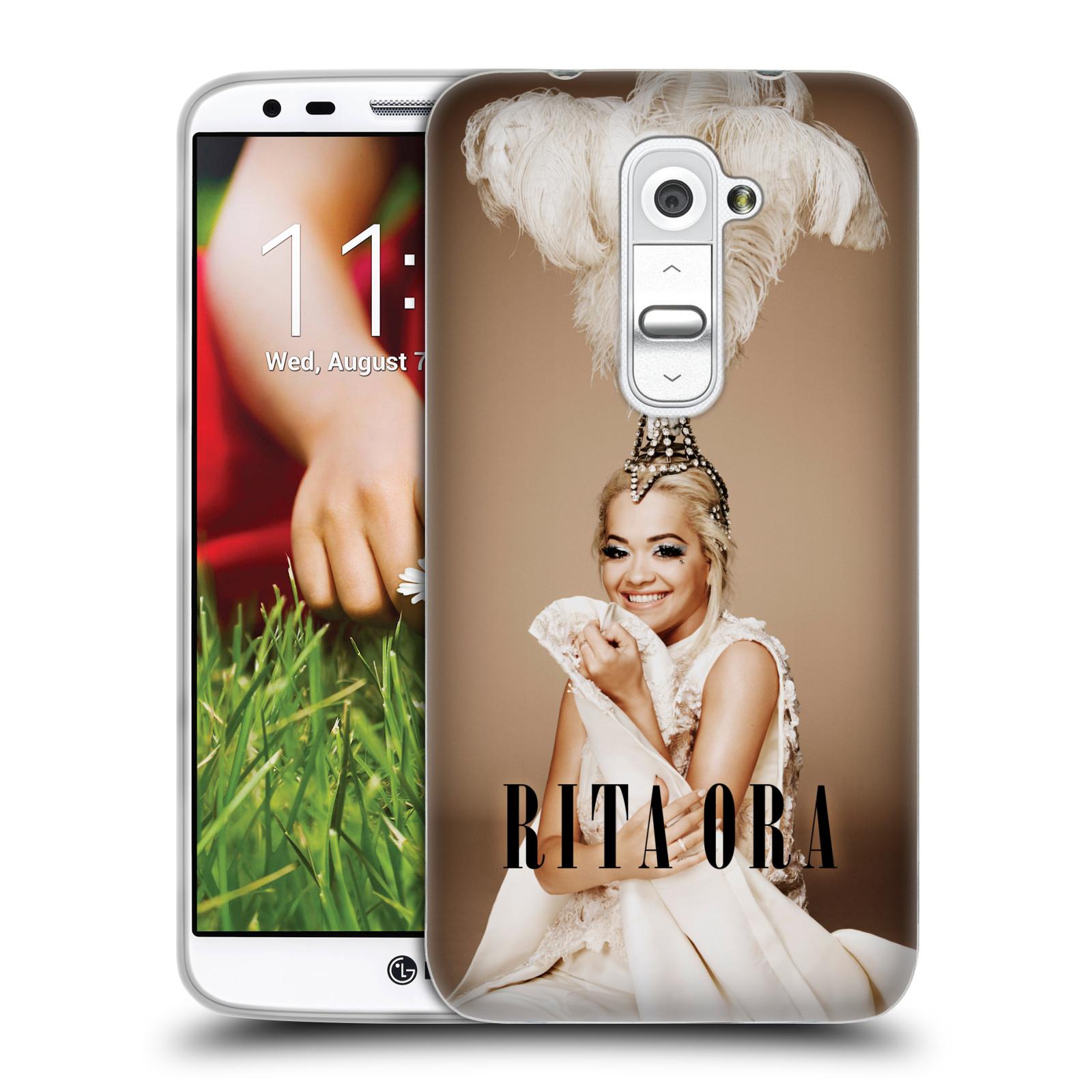HEAD CASE silikonový obal na mobil LG G2 (D802) zpěvačka Rita Ora peří