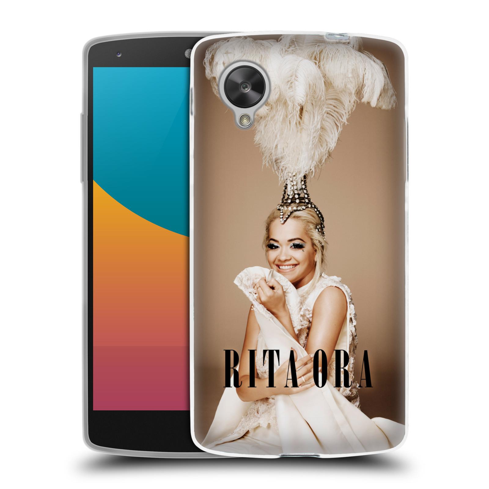 HEAD CASE silikonový obal na mobil LG Nexus 5 zpěvačka Rita Ora peří