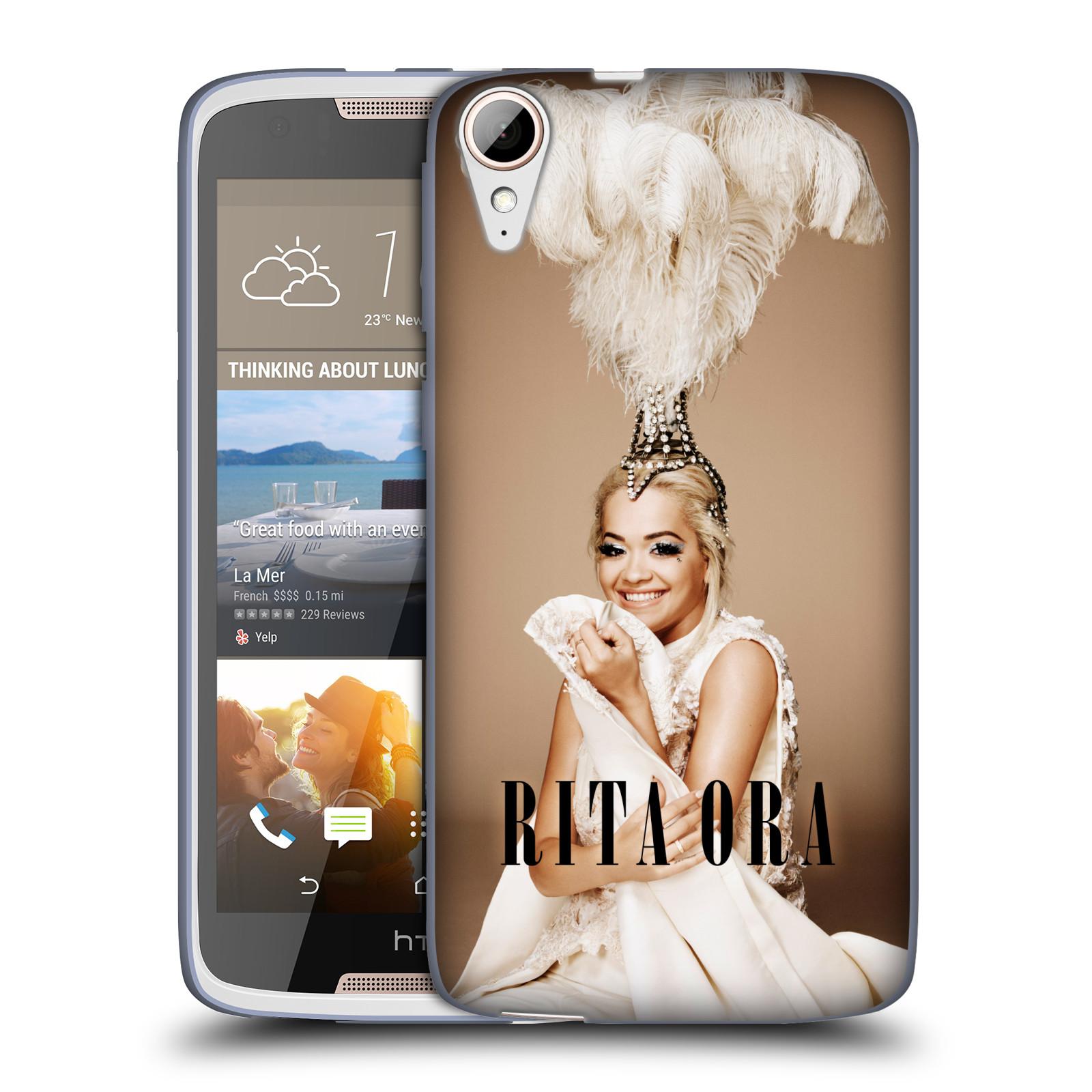 HEAD CASE silikonový obal na mobil HTC Desire 828 zpěvačka Rita Ora peří