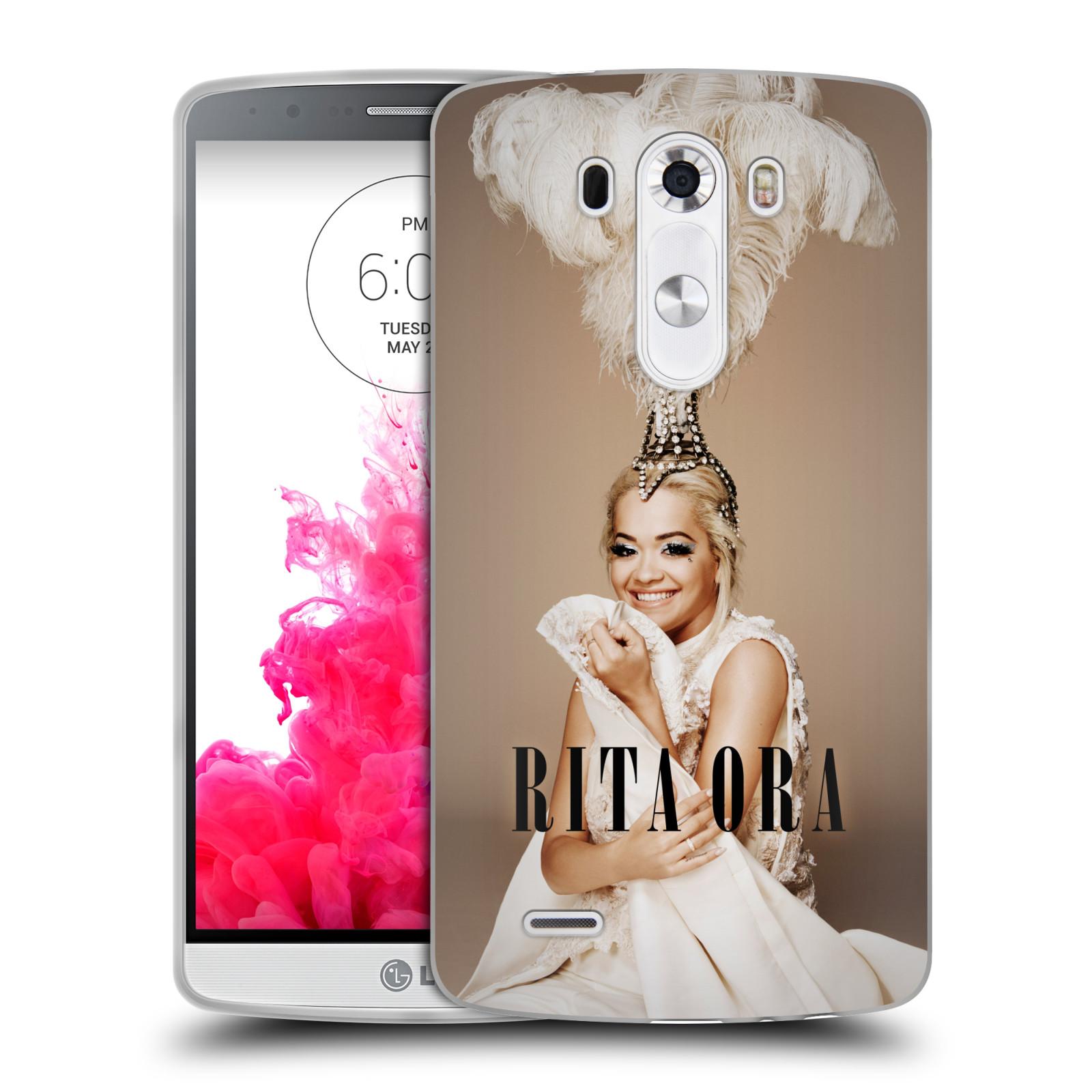 HEAD CASE silikonový obal na mobil LG G3 (D855) zpěvačka Rita Ora peří