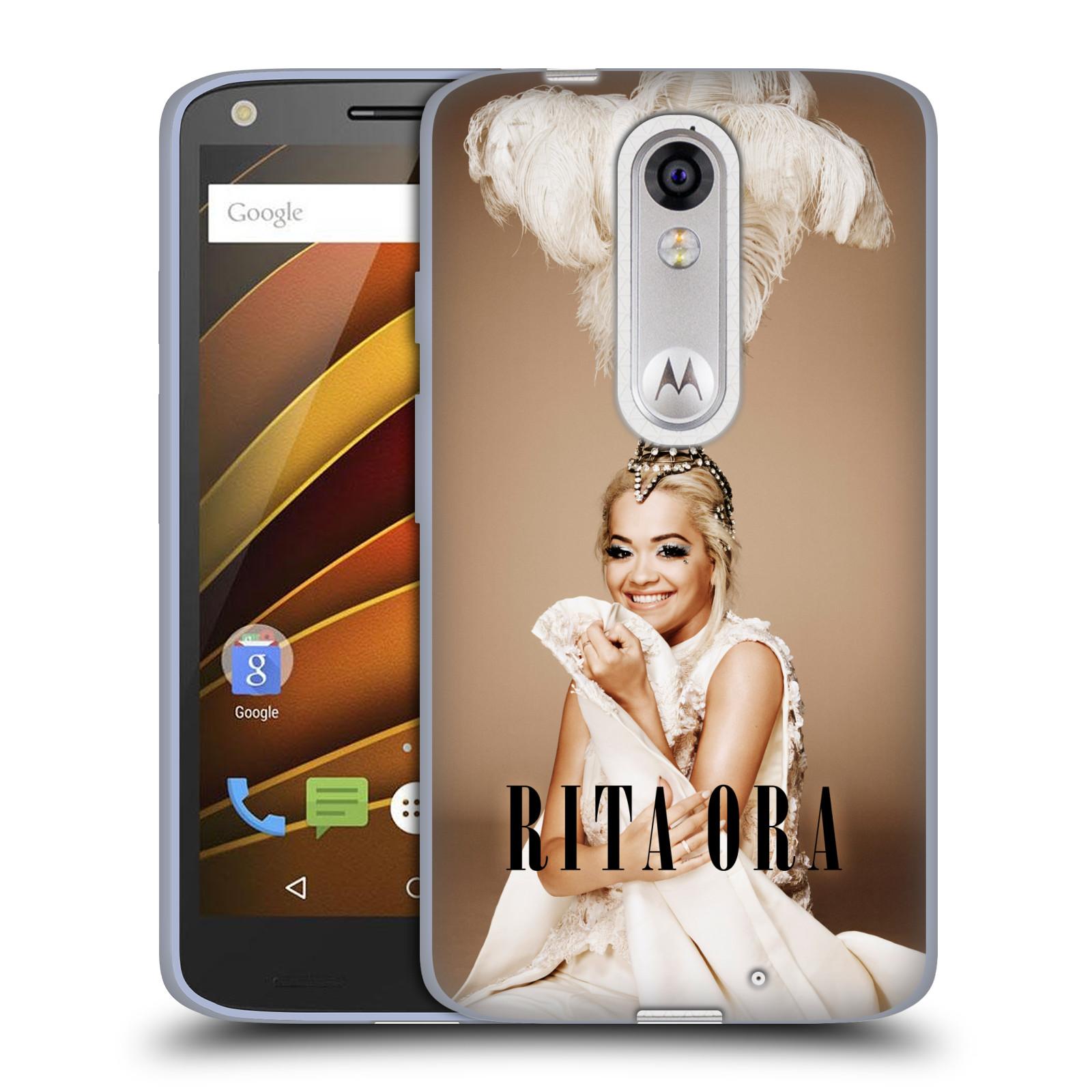 HEAD CASE silikonový obal na mobil Lenovo Moto X Force zpěvačka Rita Ora peří