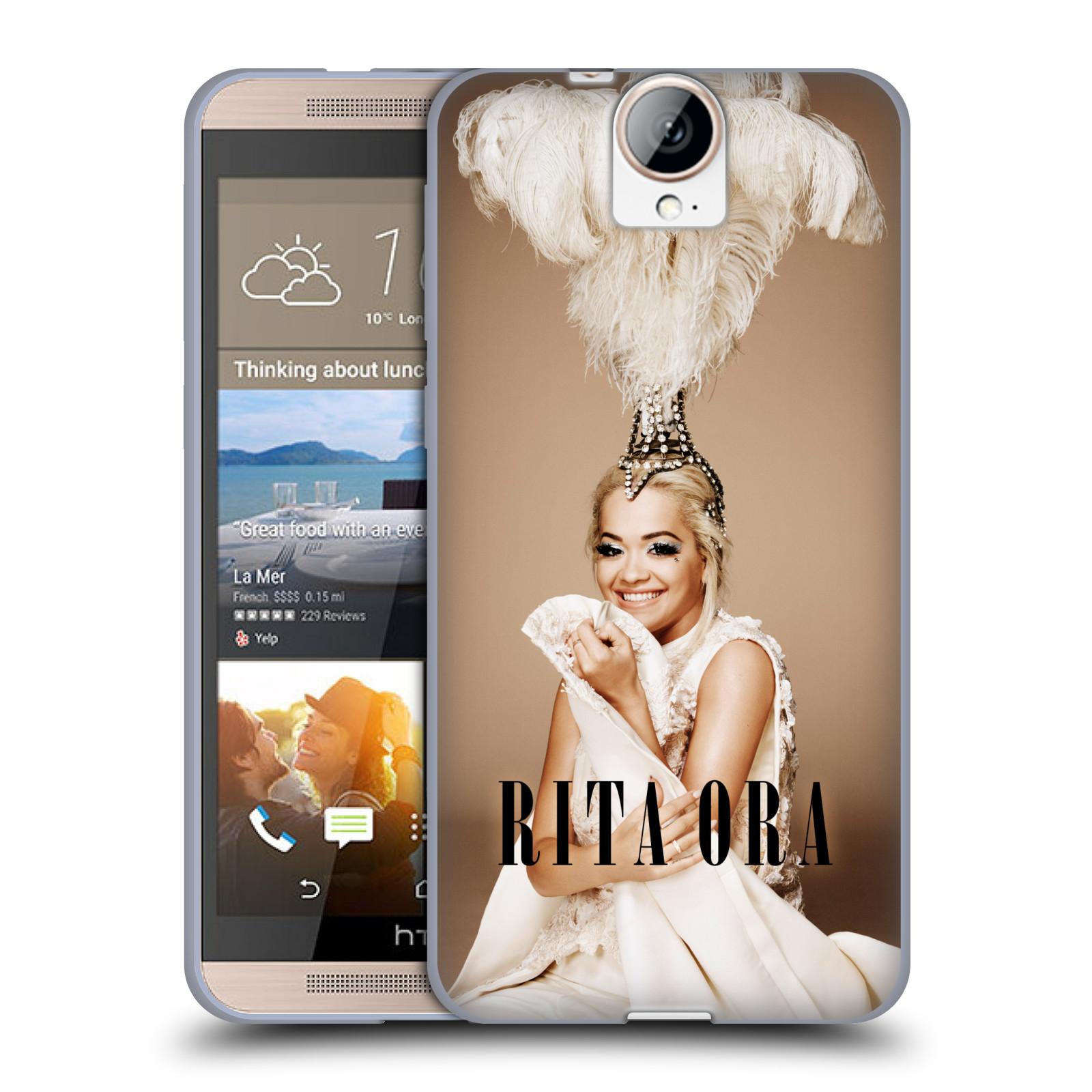 HEAD CASE silikonový obal na mobil HTC One E9 PLUS zpěvačka Rita Ora peří