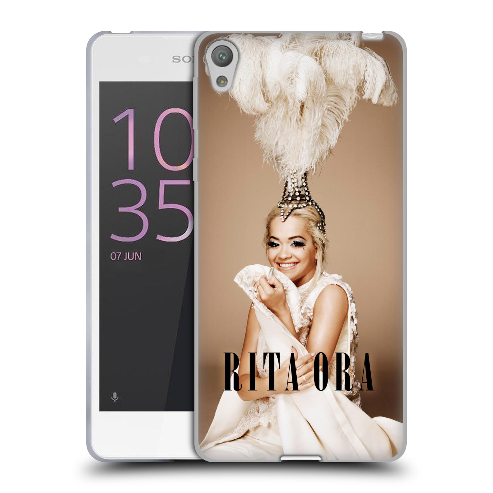 HEAD CASE silikonový obal na mobil Sony Xperia E5 zpěvačka Rita Ora peří