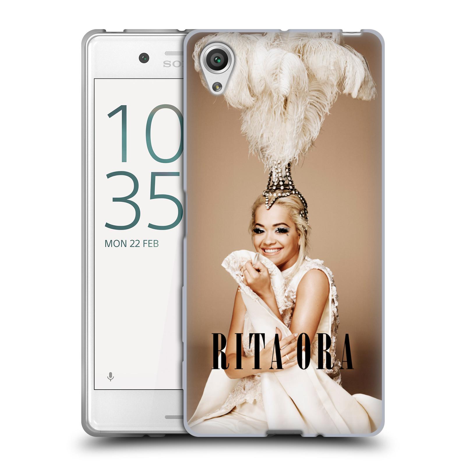 HEAD CASE silikonový obal na mobil Sony Xperia X zpěvačka Rita Ora peří