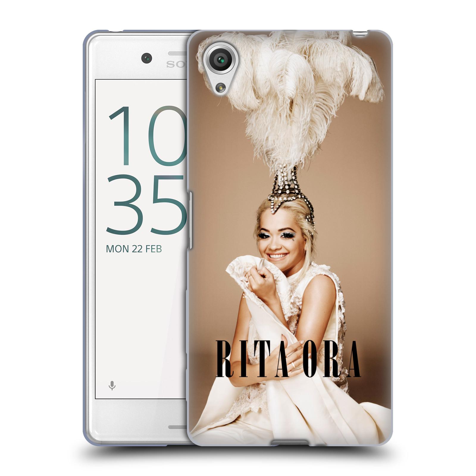 HEAD CASE silikonový obal na mobil Sony Xperia X PERFORMANCE zpěvačka Rita Ora peří