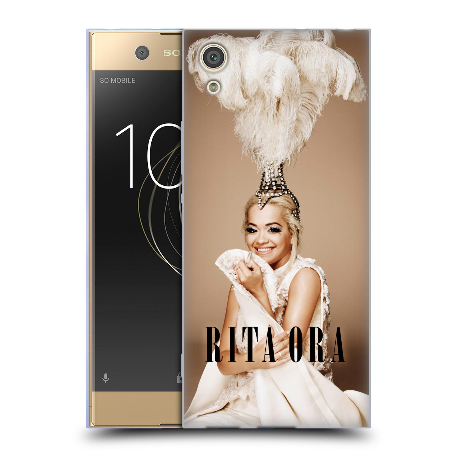 HEAD CASE silikonový obal na mobil Sony Xperia XA1 zpěvačka Rita Ora peří