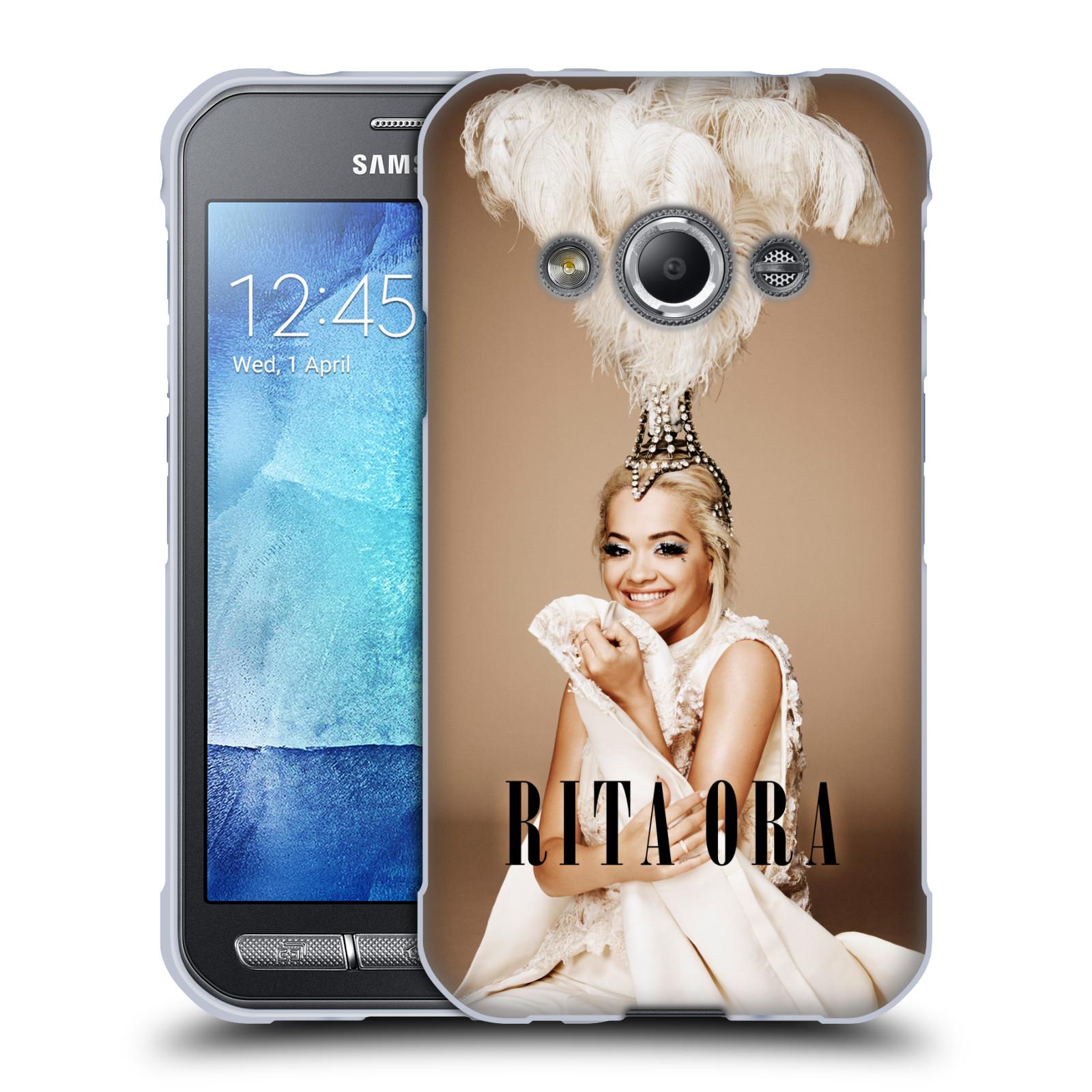HEAD CASE silikonový obal na mobil Samsung Galaxy Xcover 3 zpěvačka Rita Ora peří