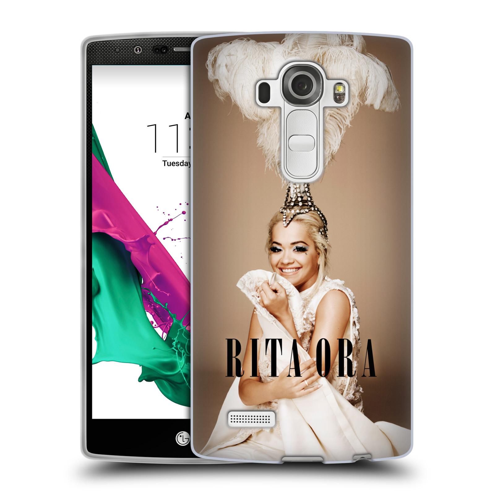 HEAD CASE silikonový obal na mobil LG G4 zpěvačka Rita Ora peří