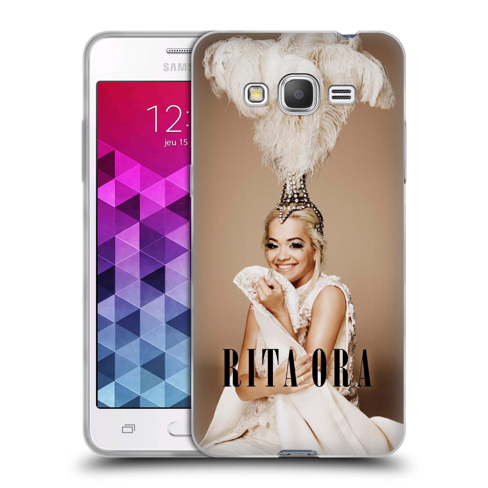 HEAD CASE silikonový obal na mobil Samsung Galaxy Grand Prime zpěvačka Rita Ora peří