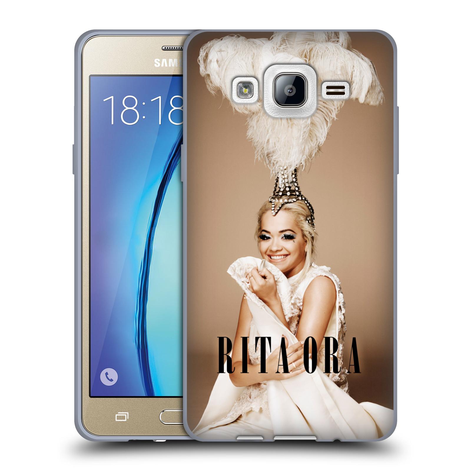 HEAD CASE silikonový obal na mobil Samsung Galaxy On5 zpěvačka Rita Ora peří