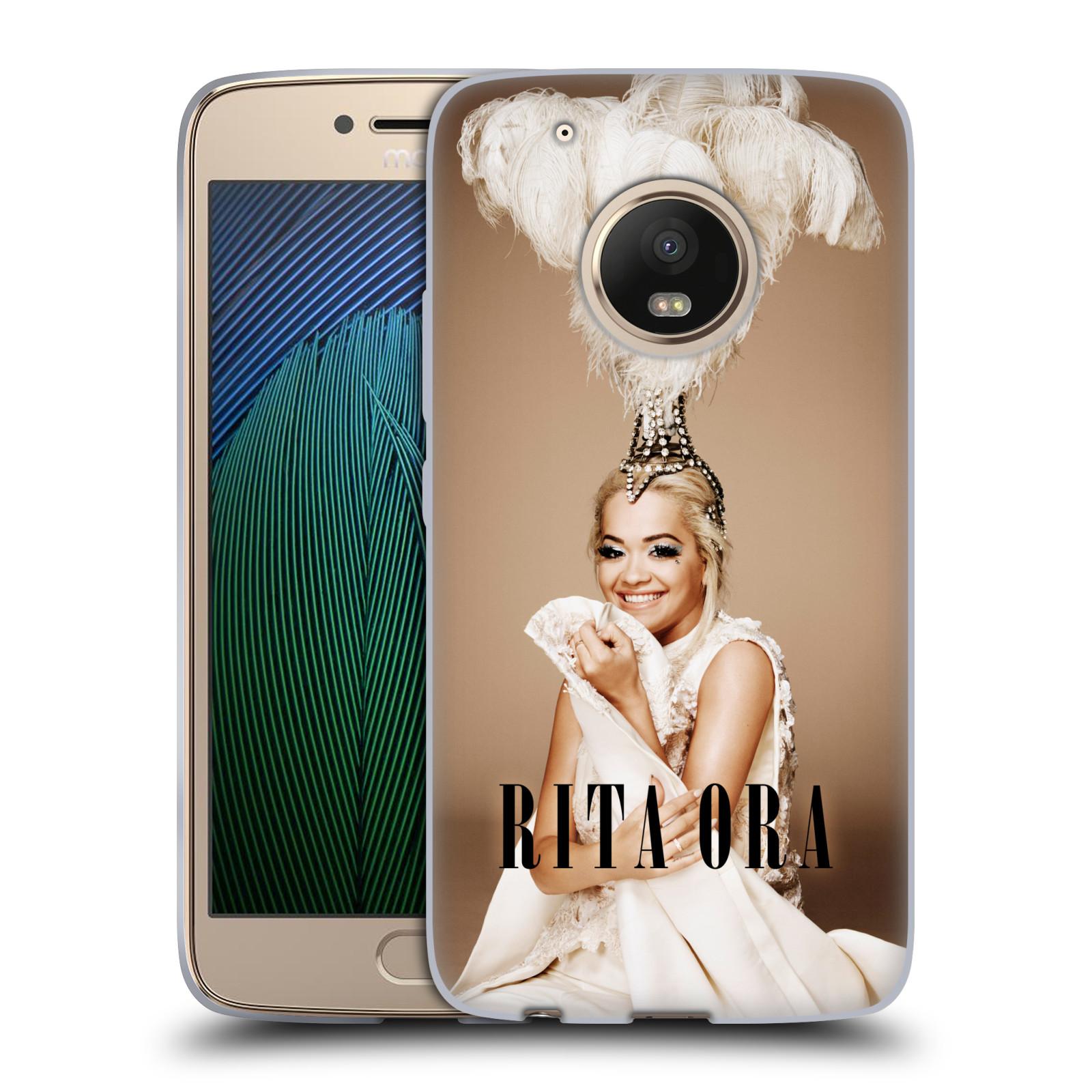 HEAD CASE silikonový obal na mobil Lenovo Moto G5 PLUS zpěvačka Rita Ora peří