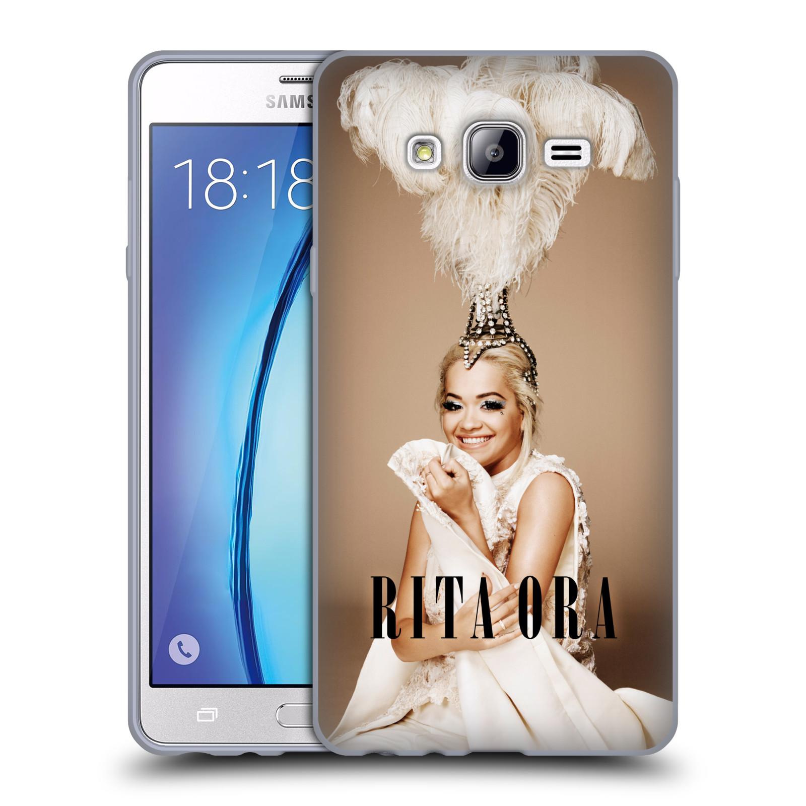 HEAD CASE silikonový obal na mobil Samsung Galaxy On7 zpěvačka Rita Ora peří