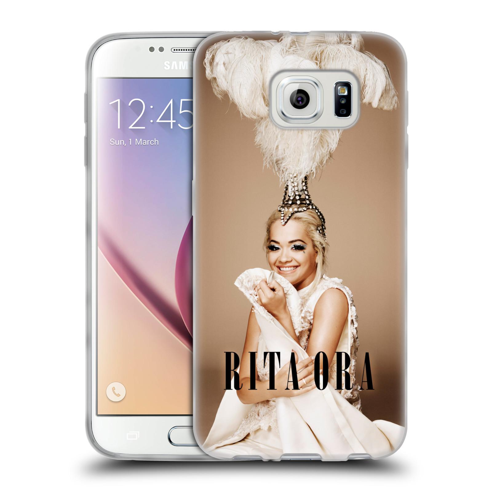 HEAD CASE silikonový obal na mobil Samsung Galaxy S6 zpěvačka Rita Ora peří