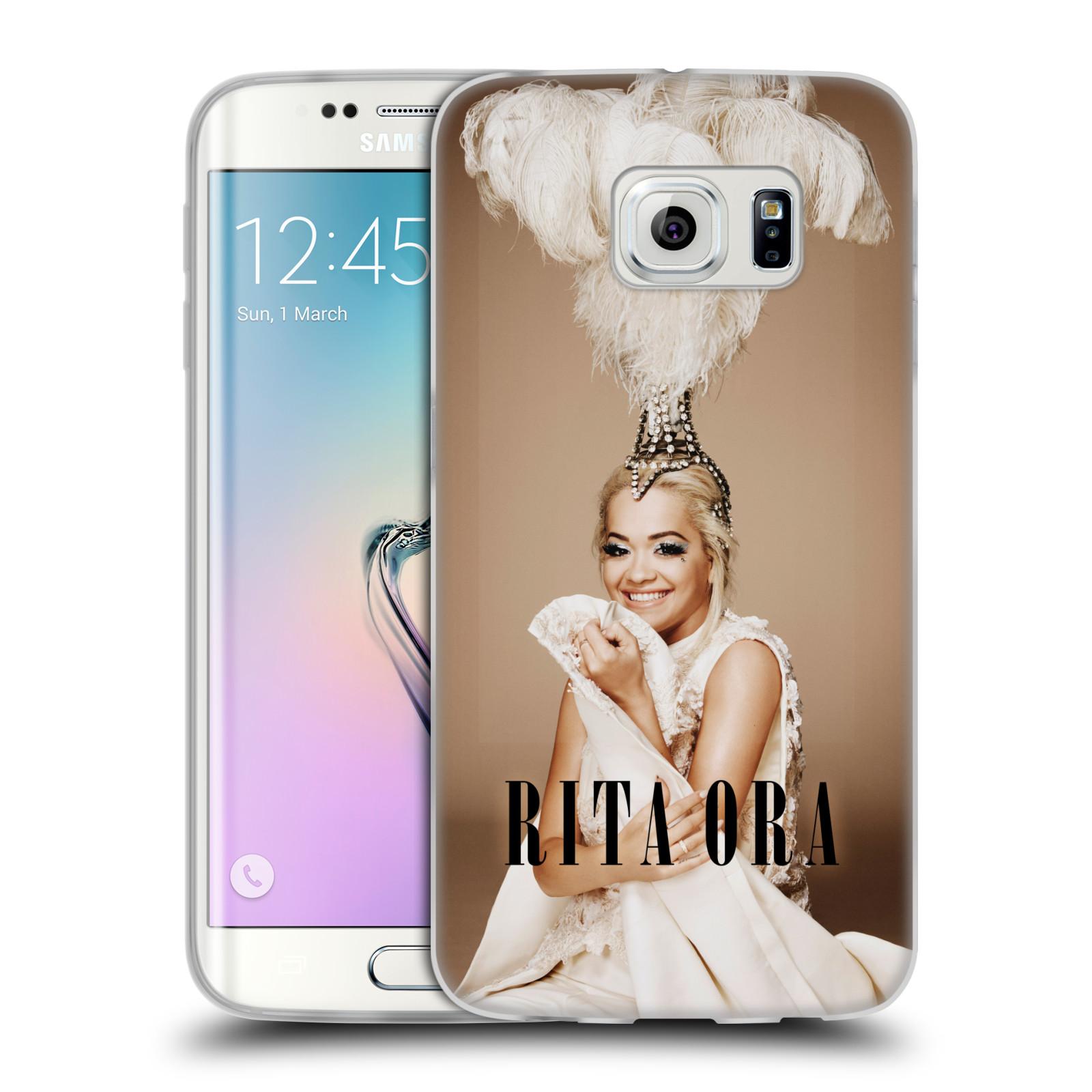 HEAD CASE silikonový obal na mobil Samsung Galaxy S6 EDGE zpěvačka Rita Ora peří
