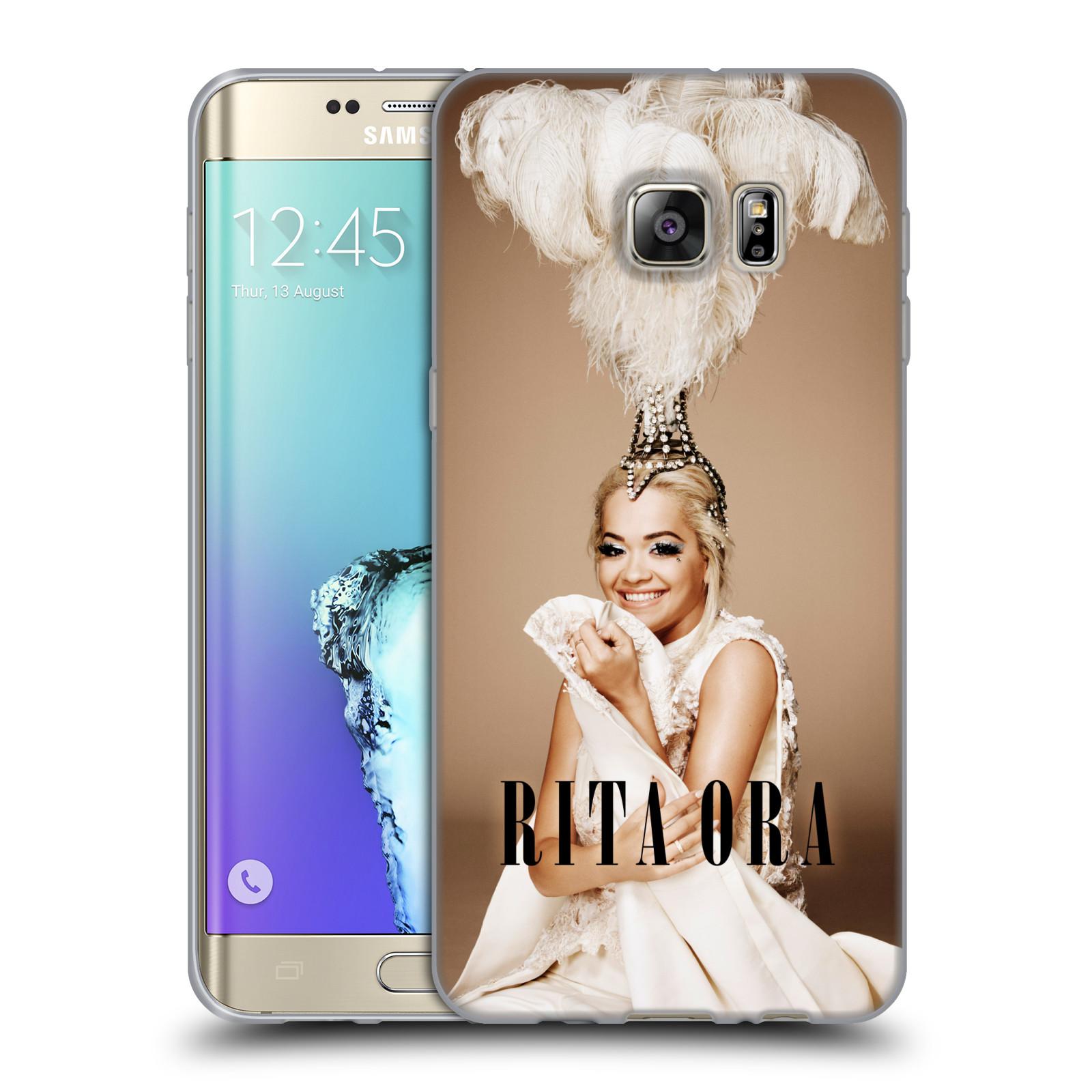 HEAD CASE silikonový obal na mobil Samsung Galaxy S6 EDGE PLUS zpěvačka Rita Ora peří