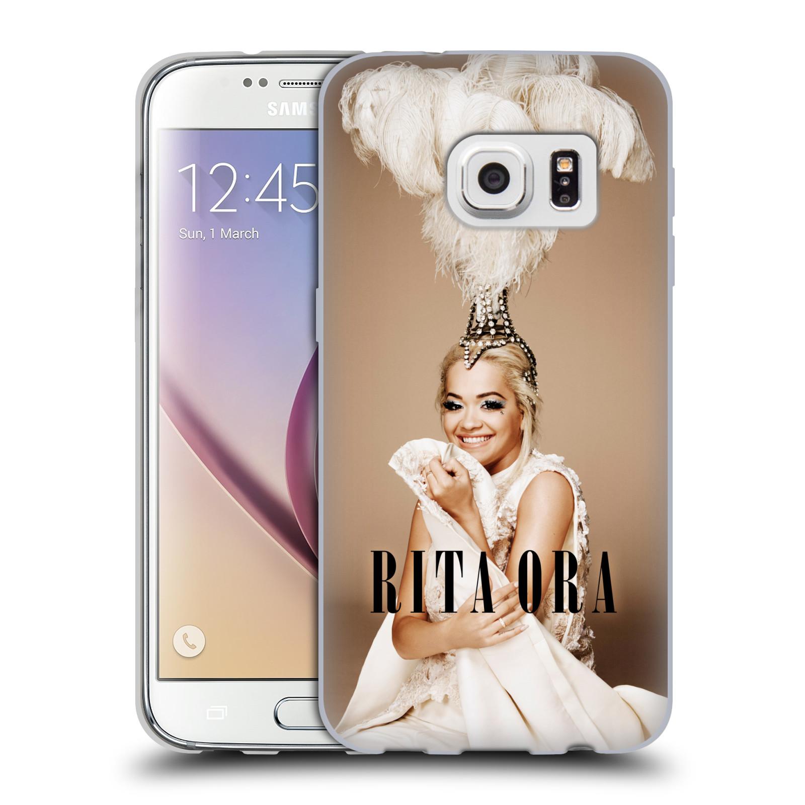 HEAD CASE silikonový obal na mobil Samsung Galaxy S7 zpěvačka Rita Ora peří