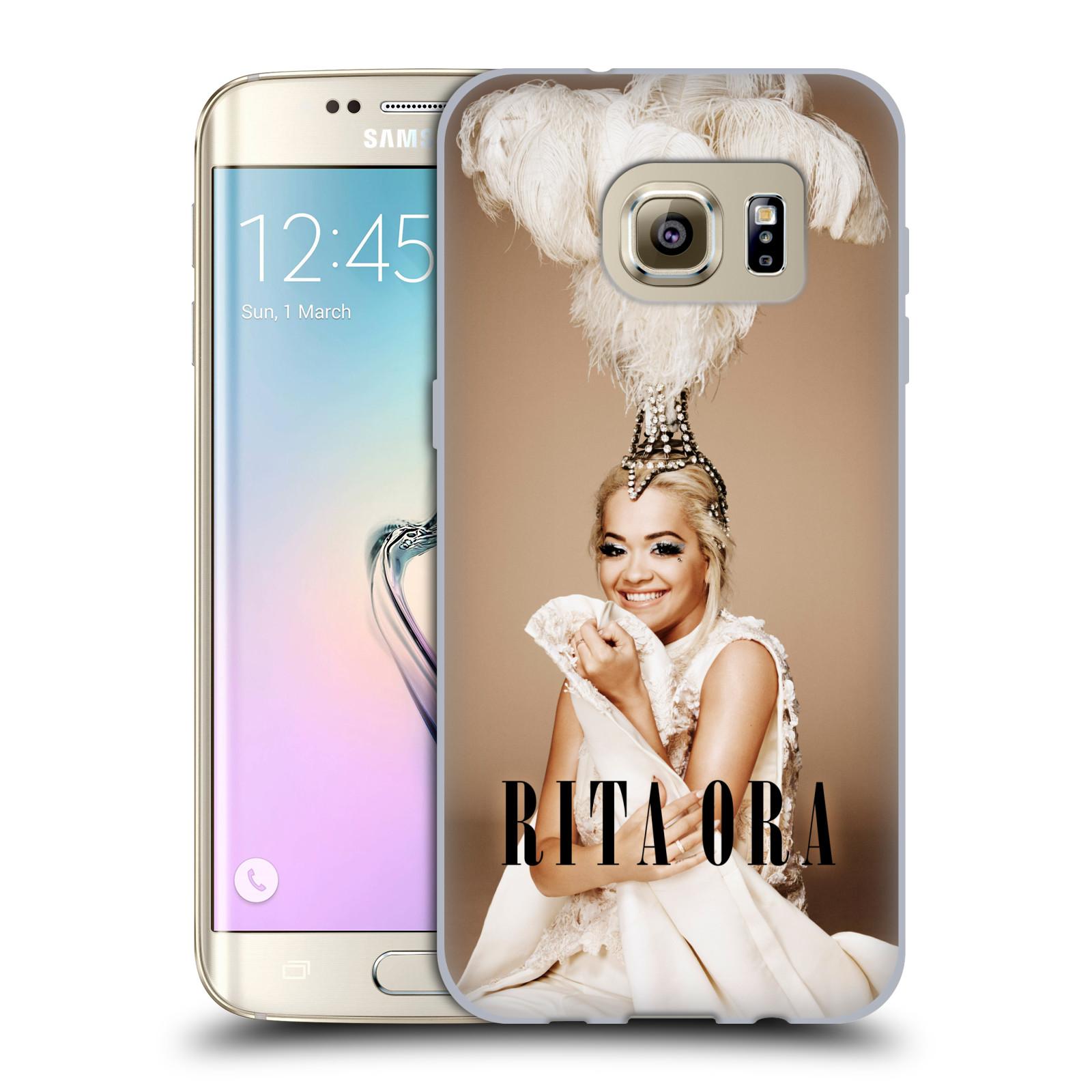 HEAD CASE silikonový obal na mobil Samsung Galaxy S7 EDGE zpěvačka Rita Ora peří