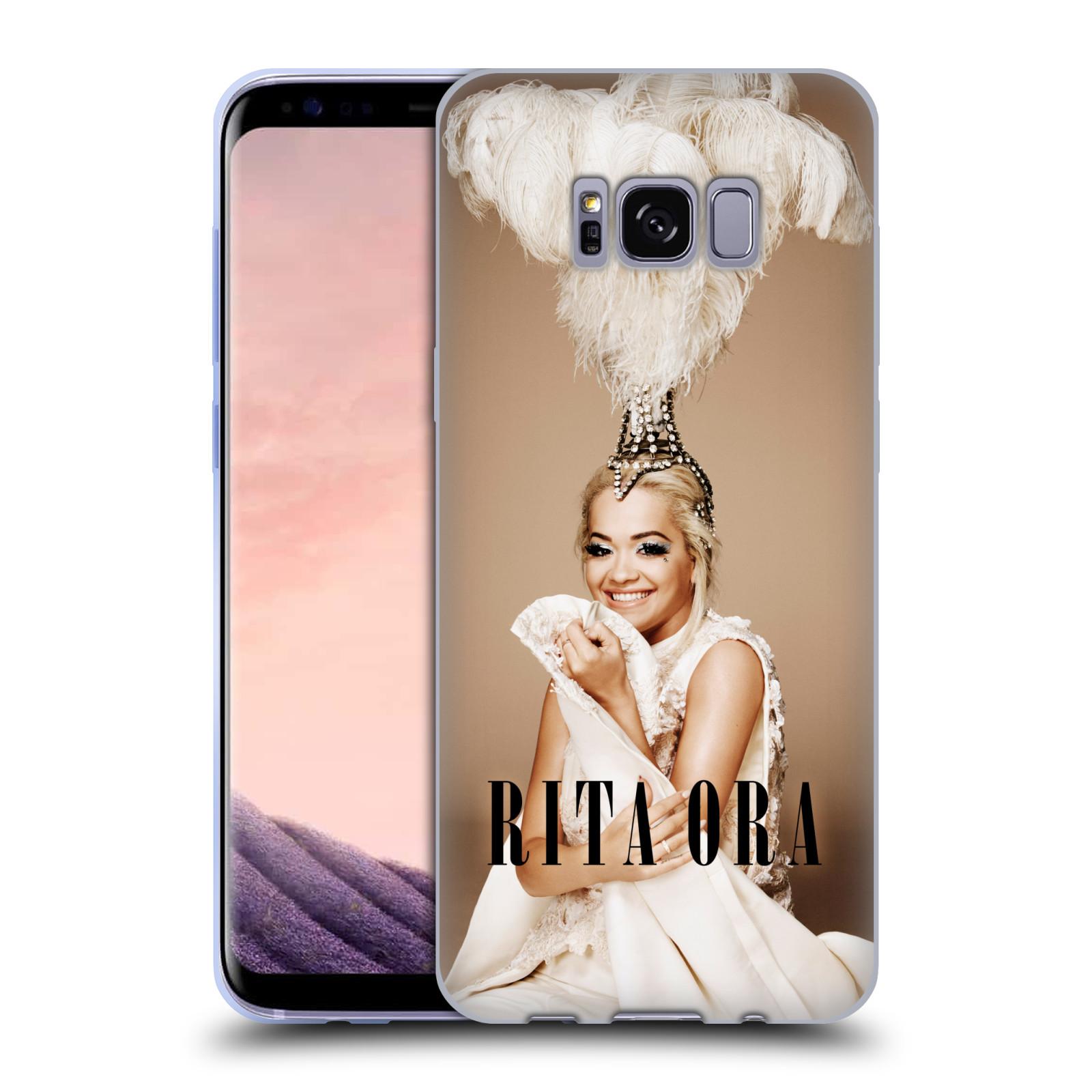 HEAD CASE silikonový obal na mobil Samsung Galaxy S8 zpěvačka Rita Ora peří
