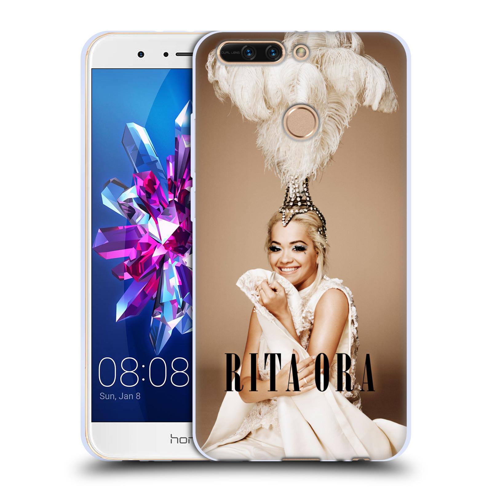 HEAD CASE silikonový obal na mobil Huawei HONOR 8 PRO / Honor 8 PRO DUAL SIM zpěvačka Rita Ora peří