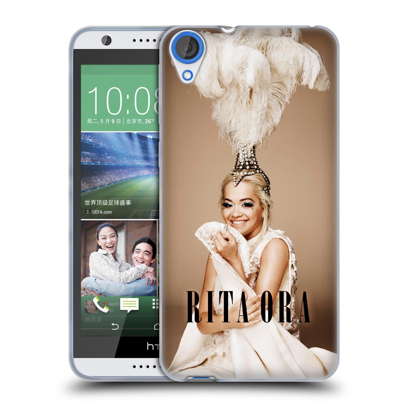HEAD CASE silikonový obal na mobil HTC Desire 820 zpěvačka Rita Ora peří