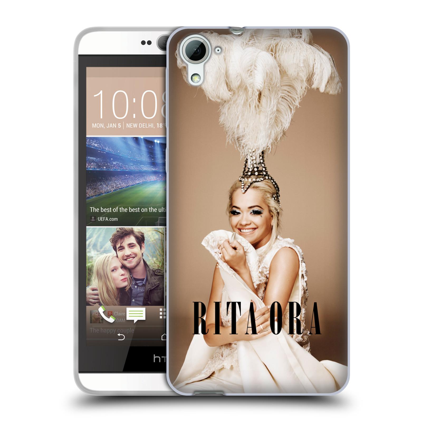 HEAD CASE silikonový obal na mobil HTC Desire 826 zpěvačka Rita Ora peří