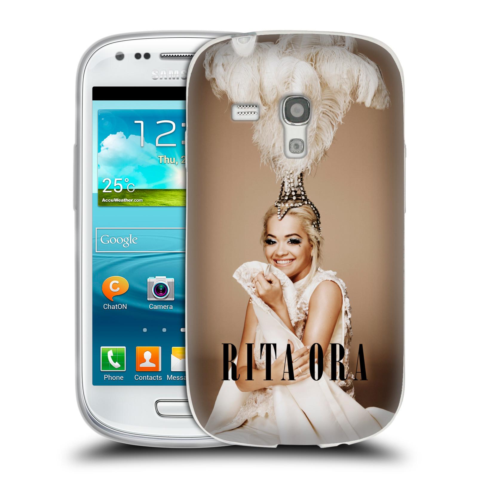 HEAD CASE silikonový obal na mobil Samsung Galaxy S3 MINI zpěvačka Rita Ora peří