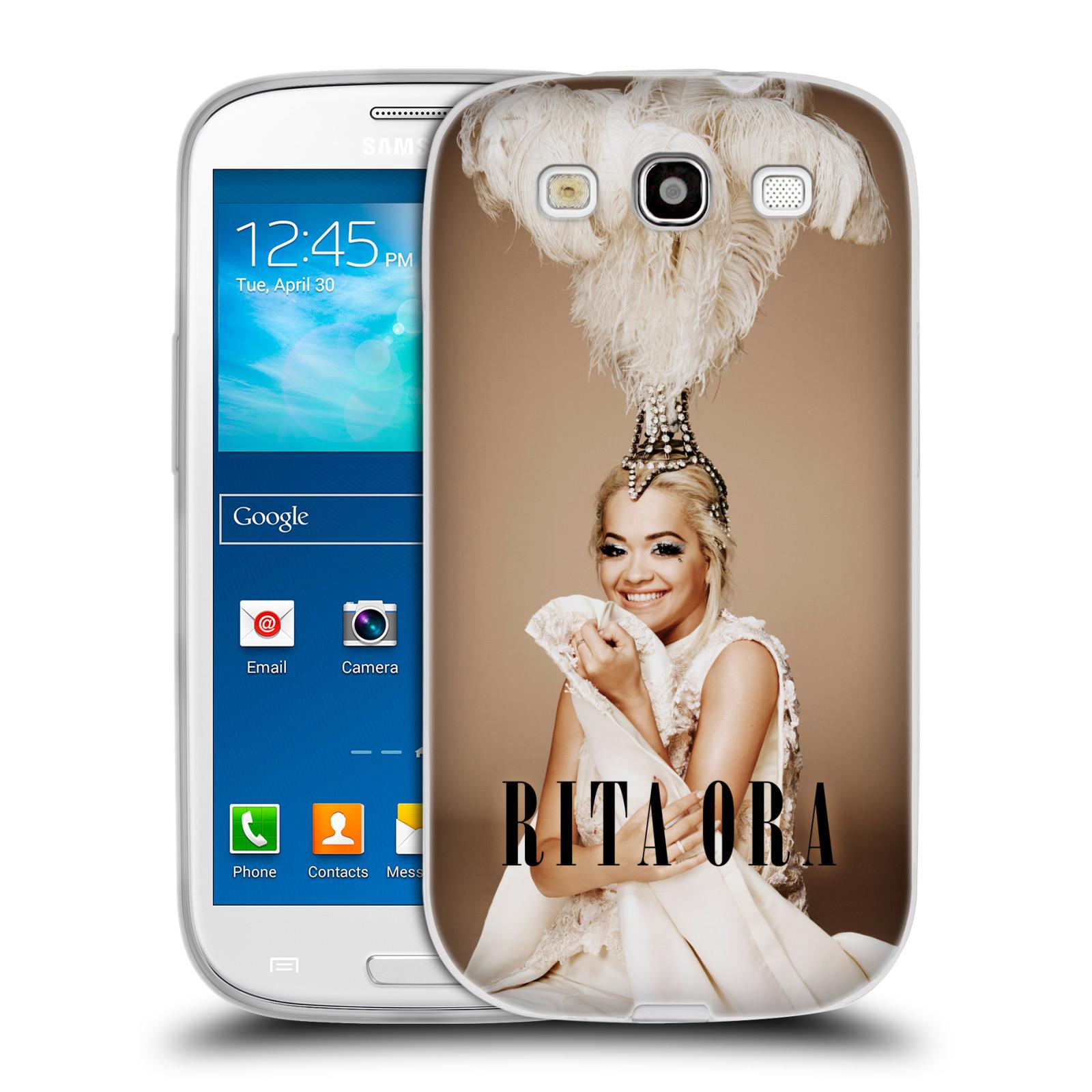HEAD CASE silikonový obal na mobil Samsung Galaxy S3 zpěvačka Rita Ora peří