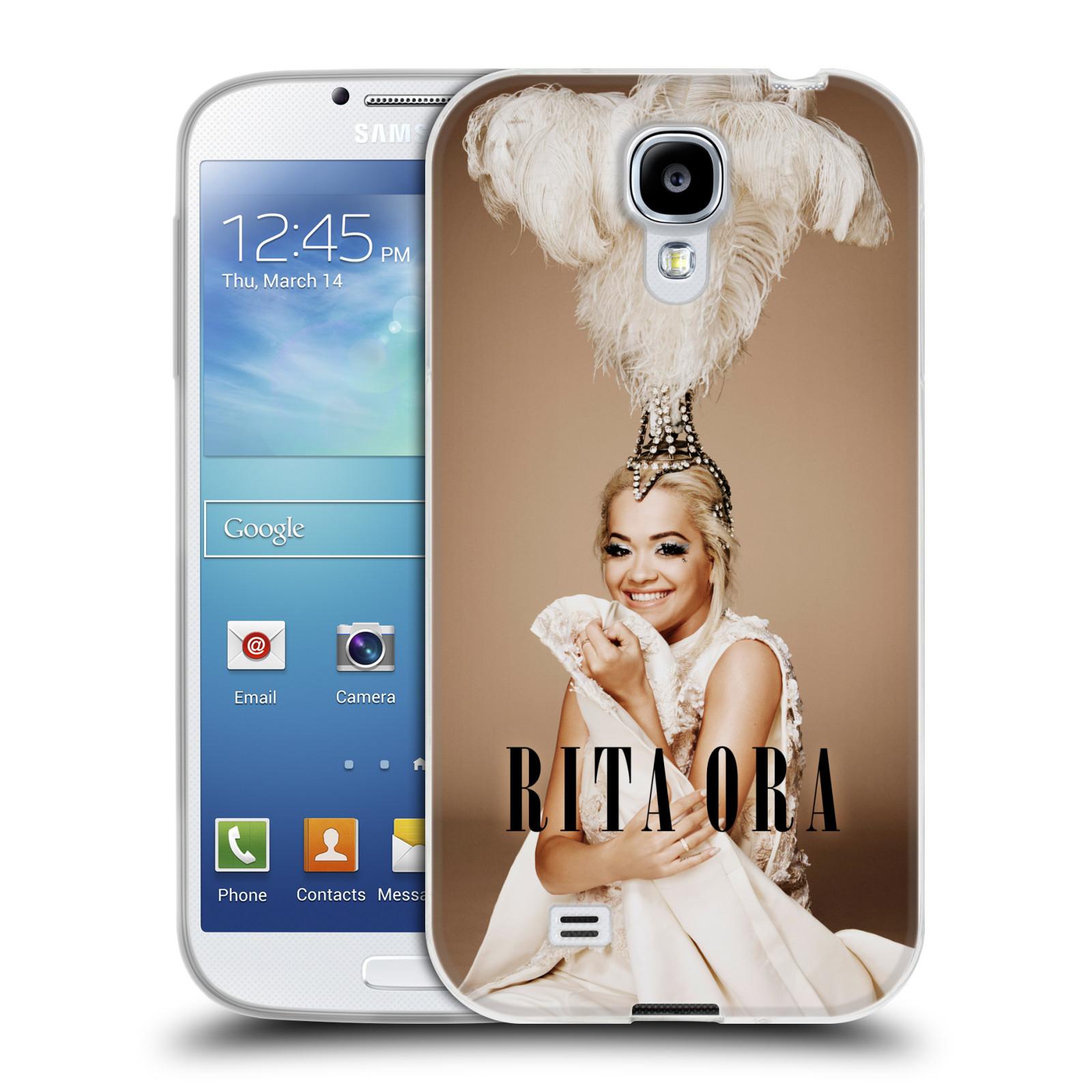 HEAD CASE silikonový obal na mobil Samsung Galaxy S4 zpěvačka Rita Ora peří