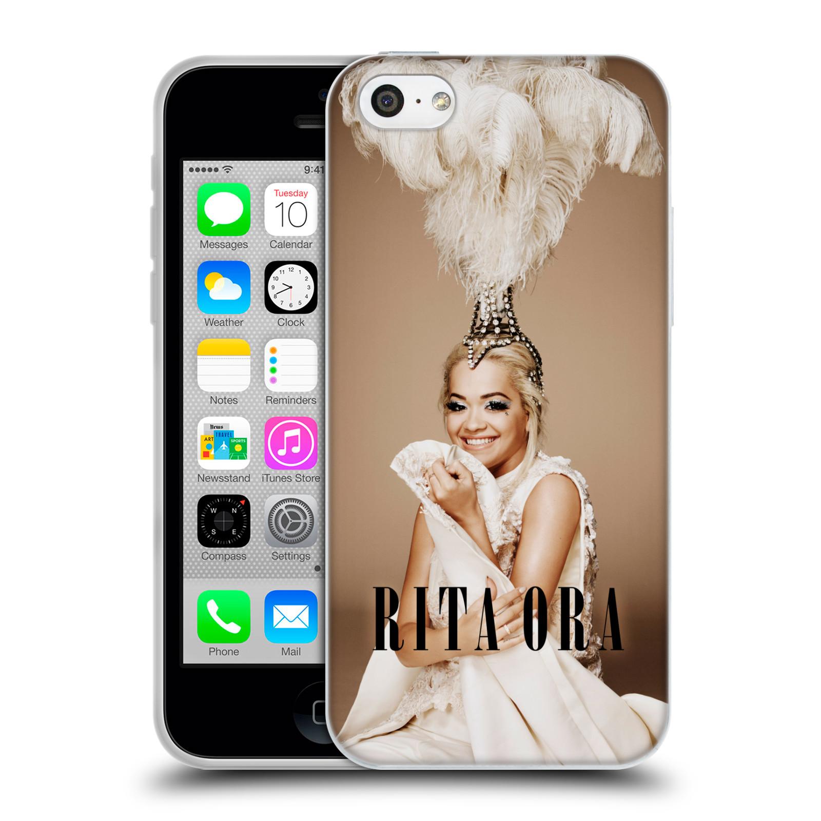 HEAD CASE silikonový obal na mobil Apple Iphone 5C zpěvačka Rita Ora peří