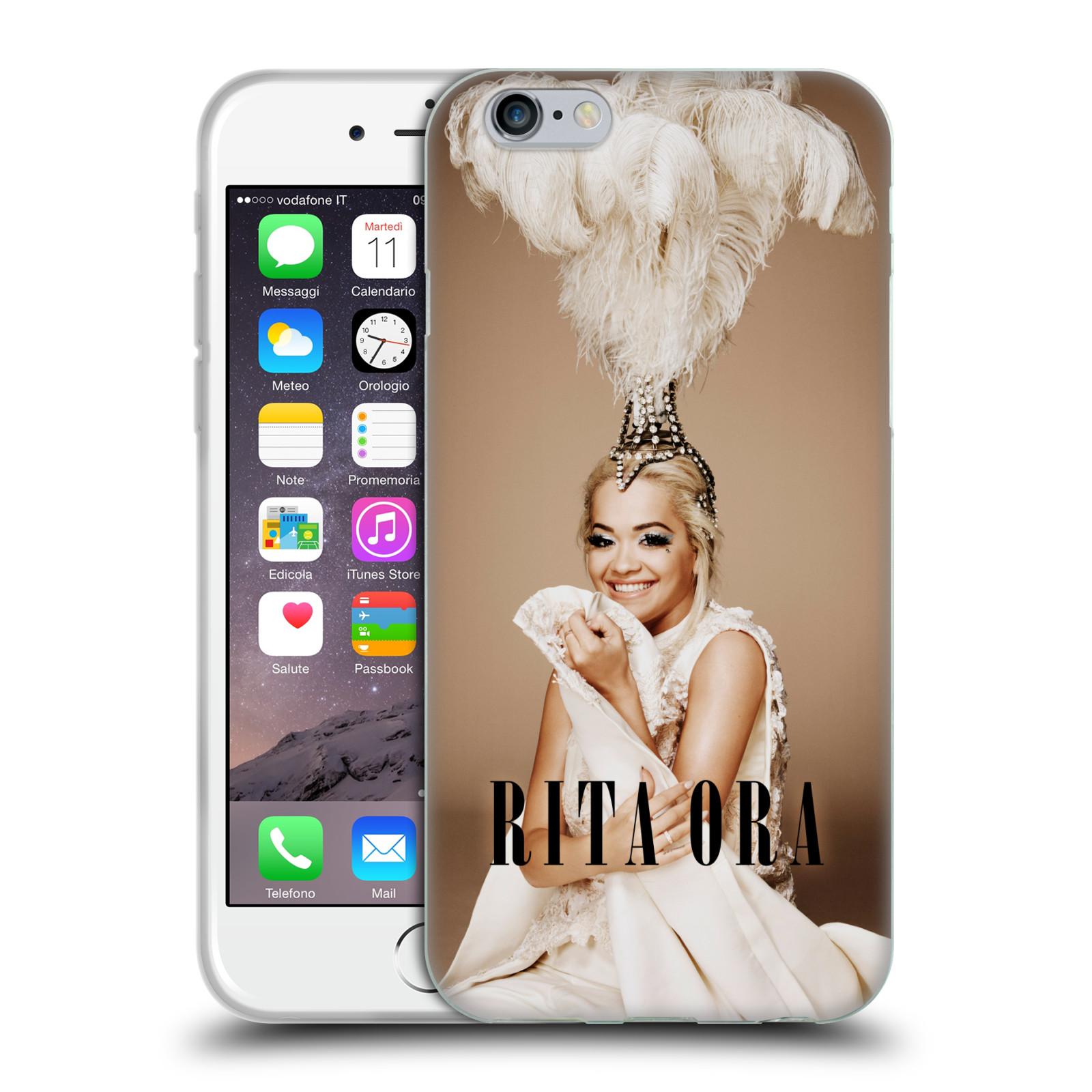 HEAD CASE silikonový obal na mobil Apple Iphone 6/6S zpěvačka Rita Ora peří