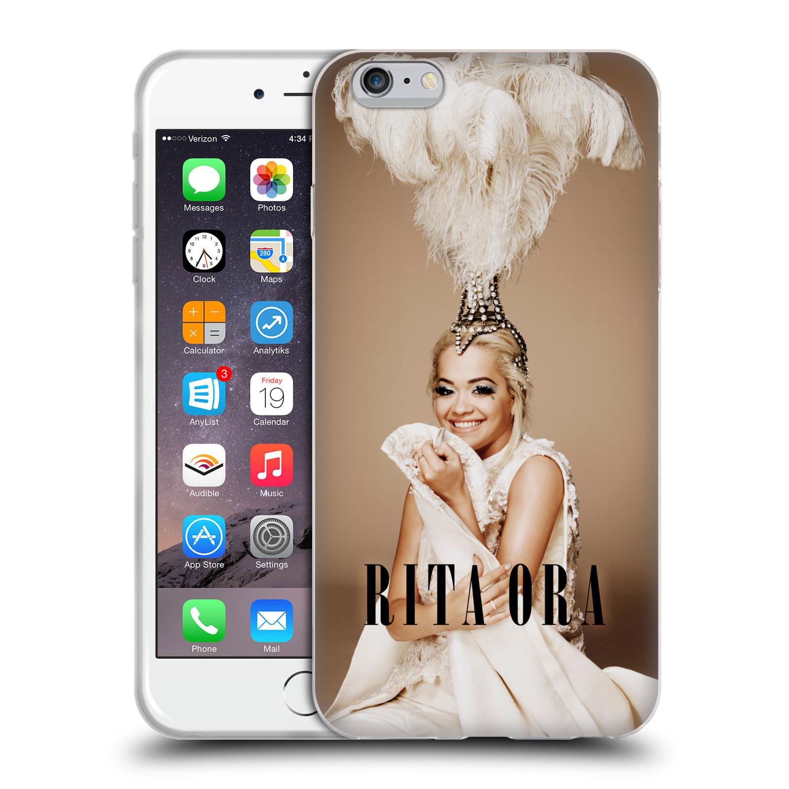 HEAD CASE silikonový obal na mobil Apple Iphone 6/6S PLUS zpěvačka Rita Ora peří