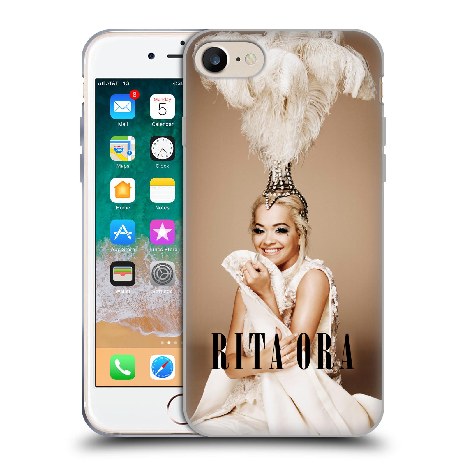 HEAD CASE silikonový obal na mobil Apple Iphone 7 zpěvačka Rita Ora peří