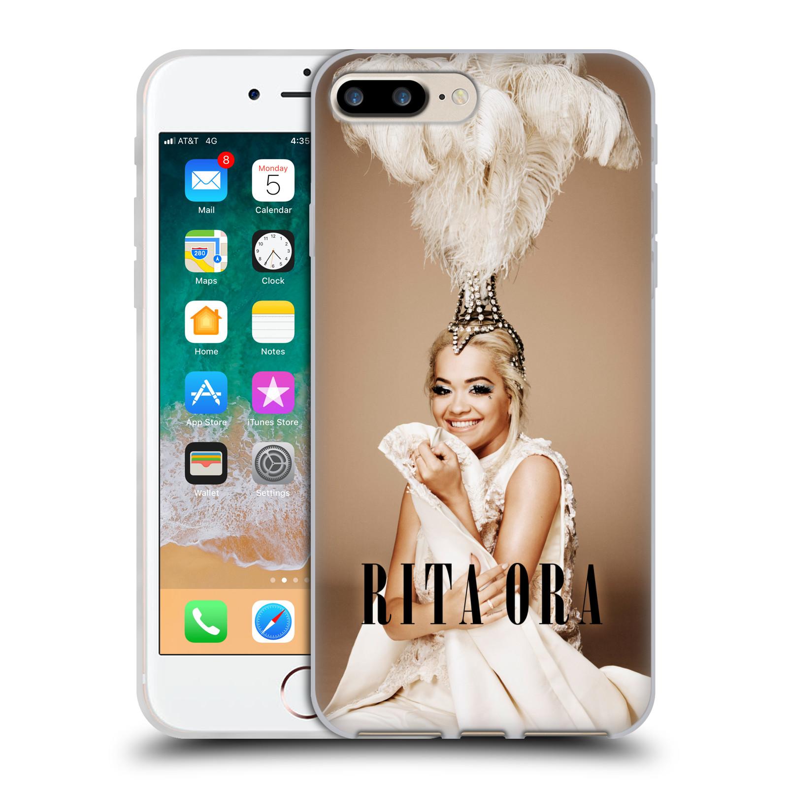 HEAD CASE silikonový obal na mobil Apple Iphone 7 PLUS zpěvačka Rita Ora peří