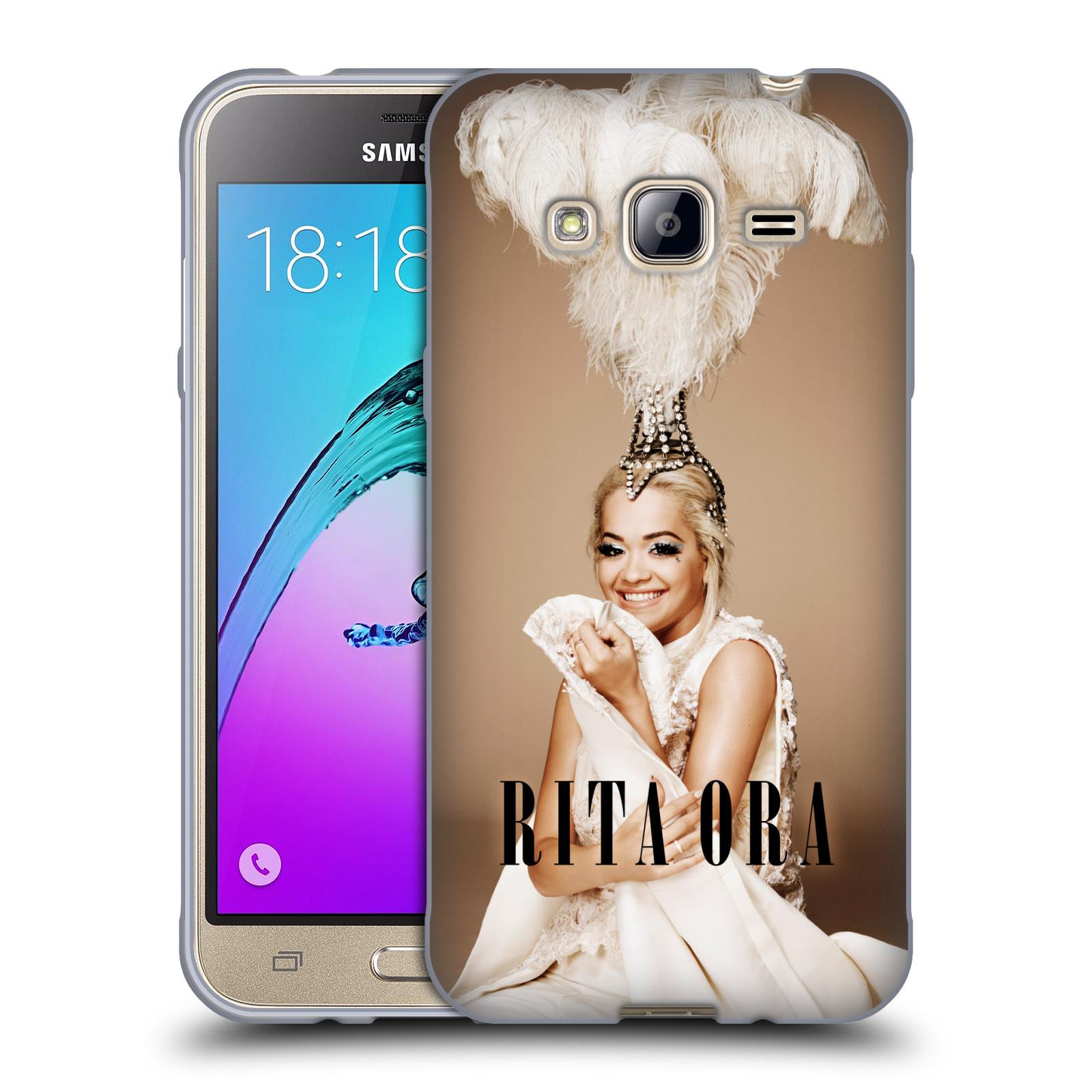 HEAD CASE silikonový obal na mobil Samsung Galaxy J3, J3 2016 zpěvačka Rita Ora peří