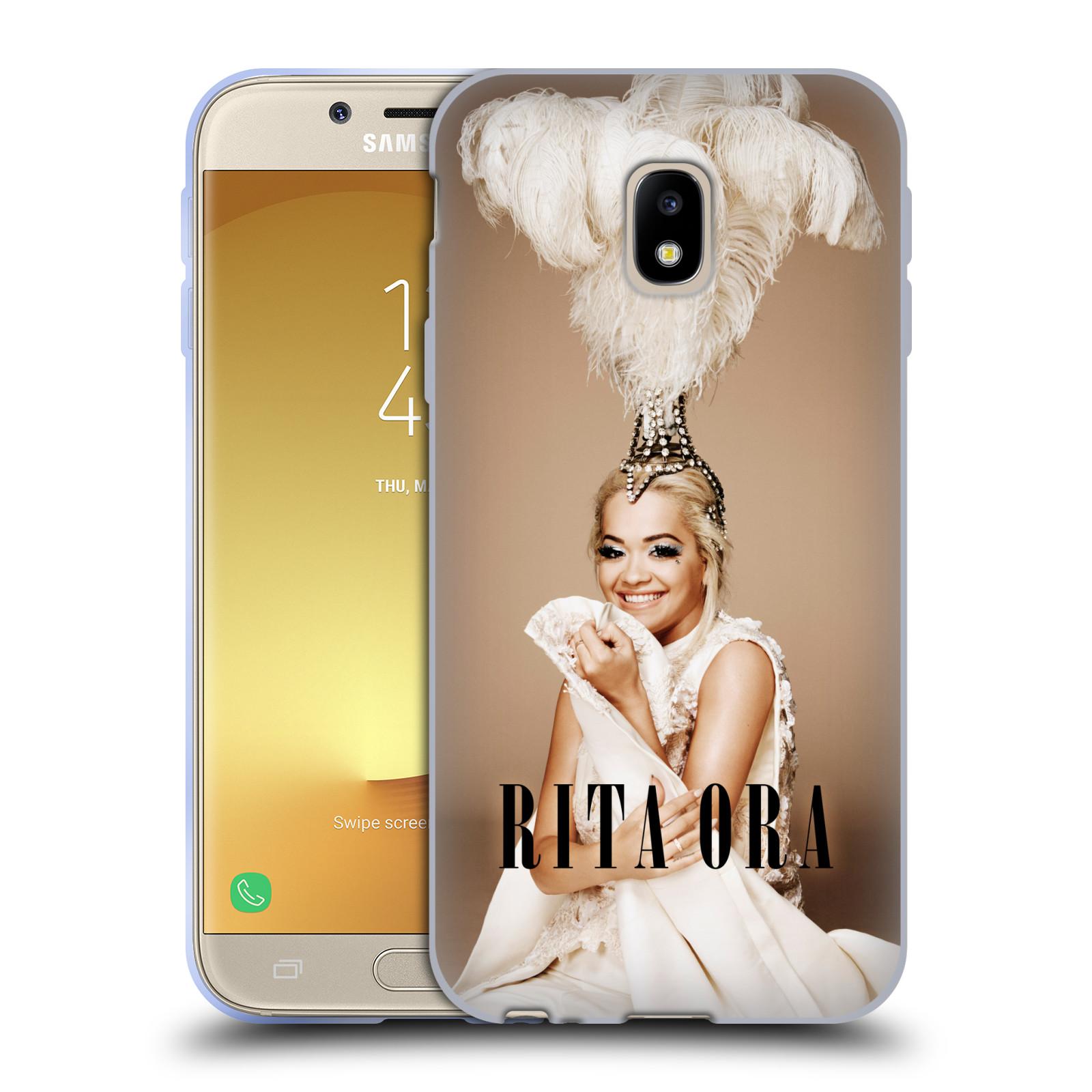 HEAD CASE silikonový obal na mobil Samsung Galaxy J3 2017 (J330, J330F) zpěvačka Rita Ora peří